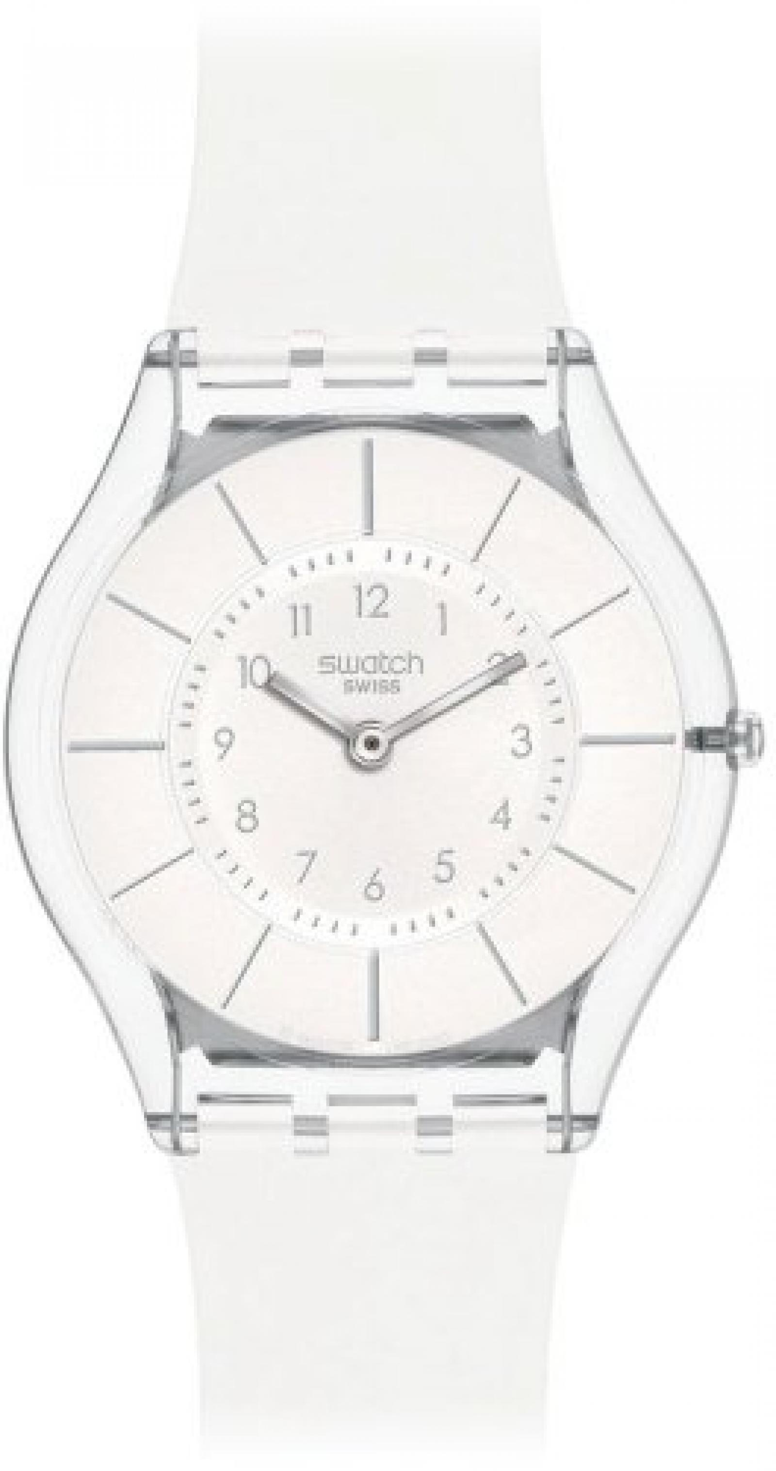 Swatch Damen-Armbanduhr XS White Classiness Analog Quarz Kautschuk SFK360