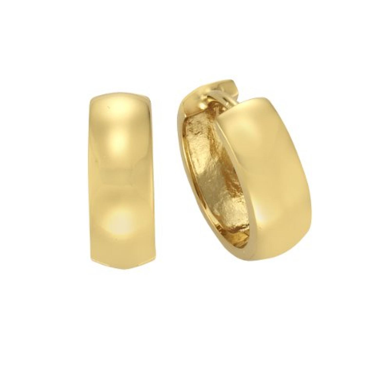 ZEEme Damen-Creolen 925 Sterling Silber vergoldet 273210051V