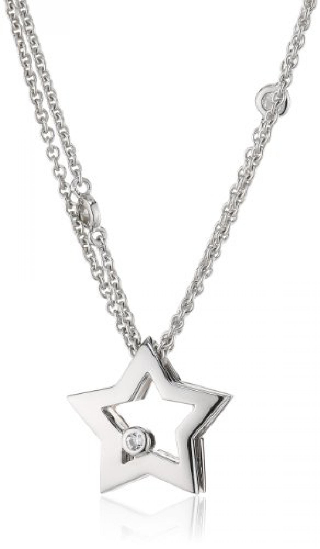 Viventy Damen-Halskette 925 Sterling Silber mit 1 Zirkonia in weiss Länge ca. 43 cm 763558