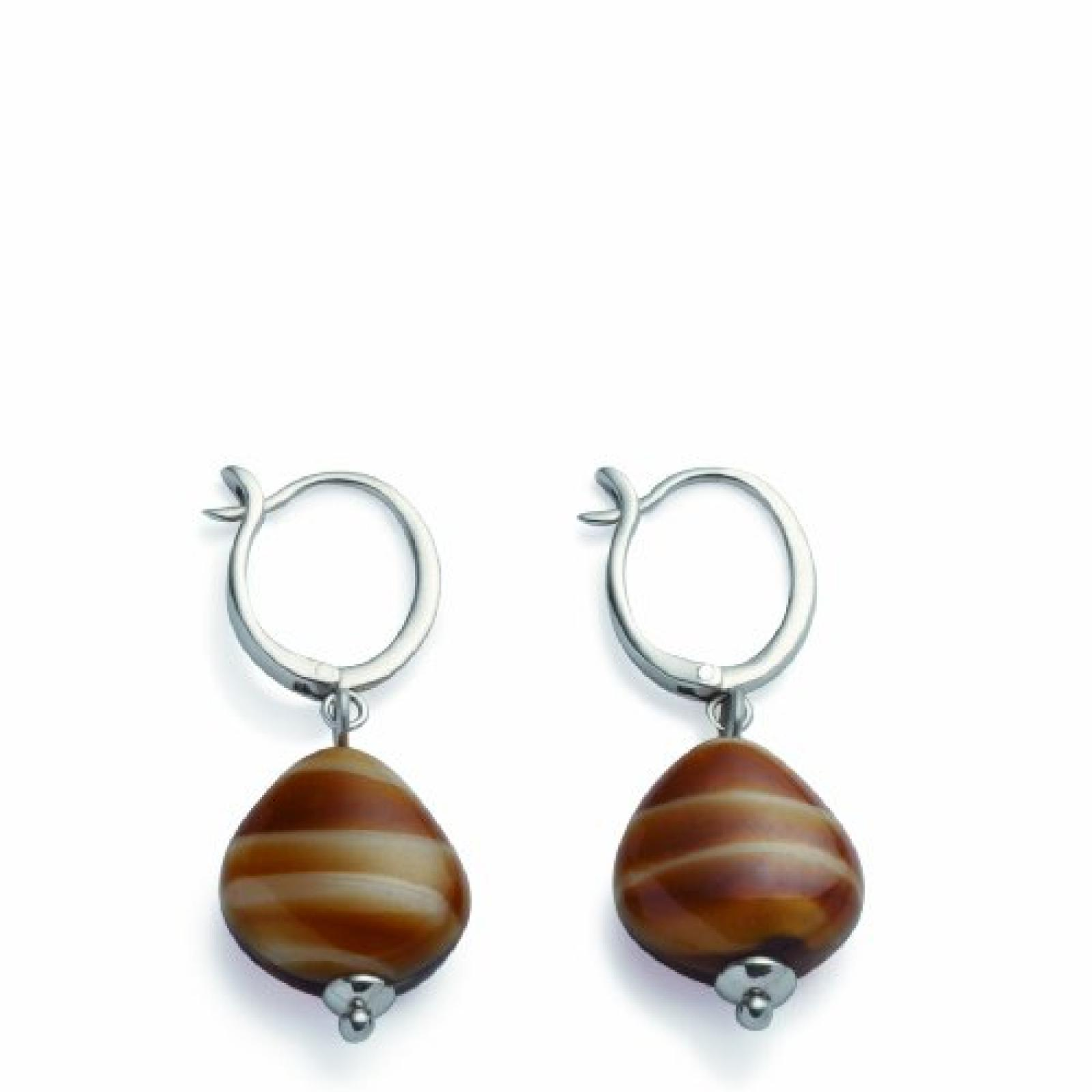 Leonardo Jewels Damen-Ohrhänger Edelstahl  centimeters 011848 Ohrhänger Brisur Spirit