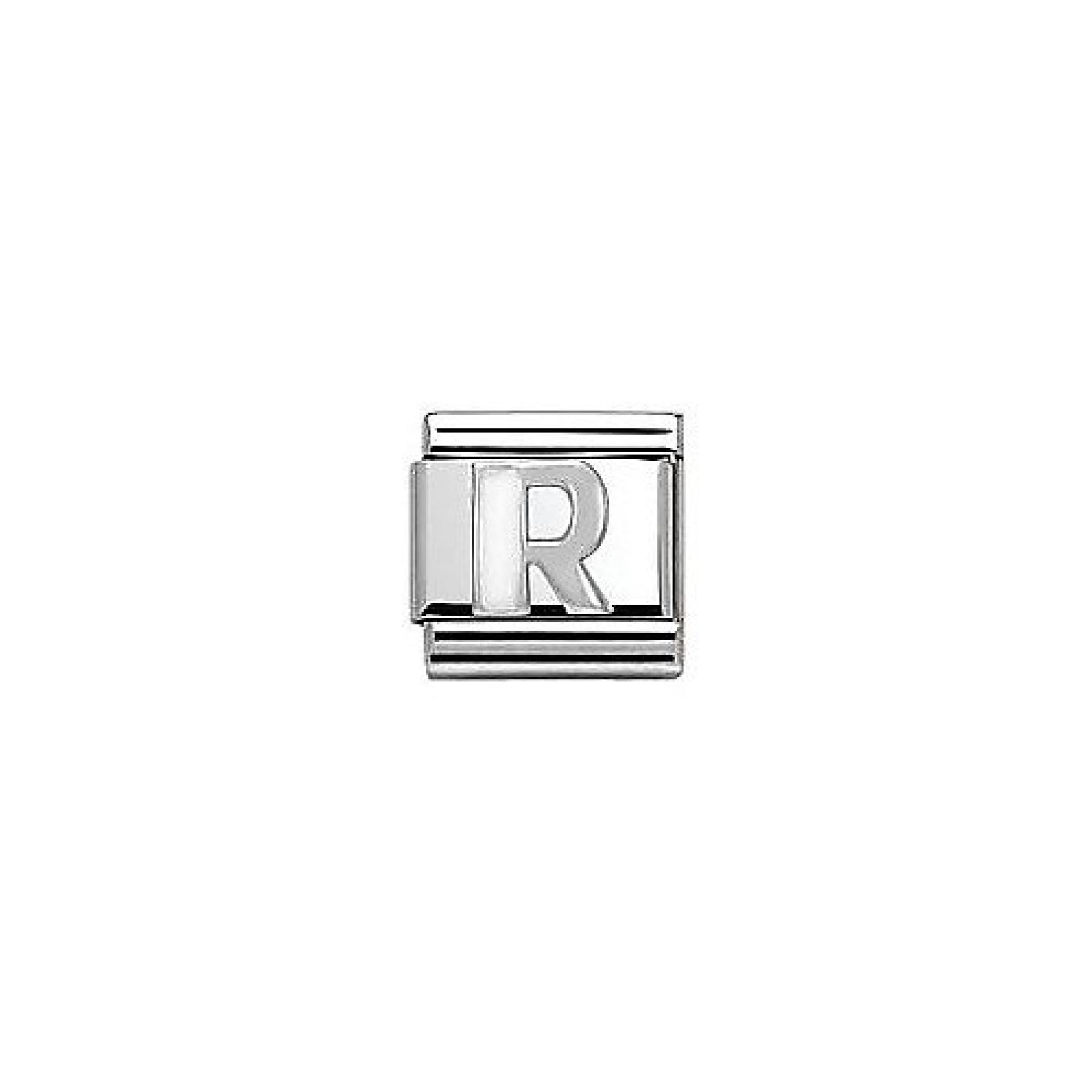 NominatioN Composable Classic WHITE ALPHABET Stahl und 925 sm (R) 330205-18