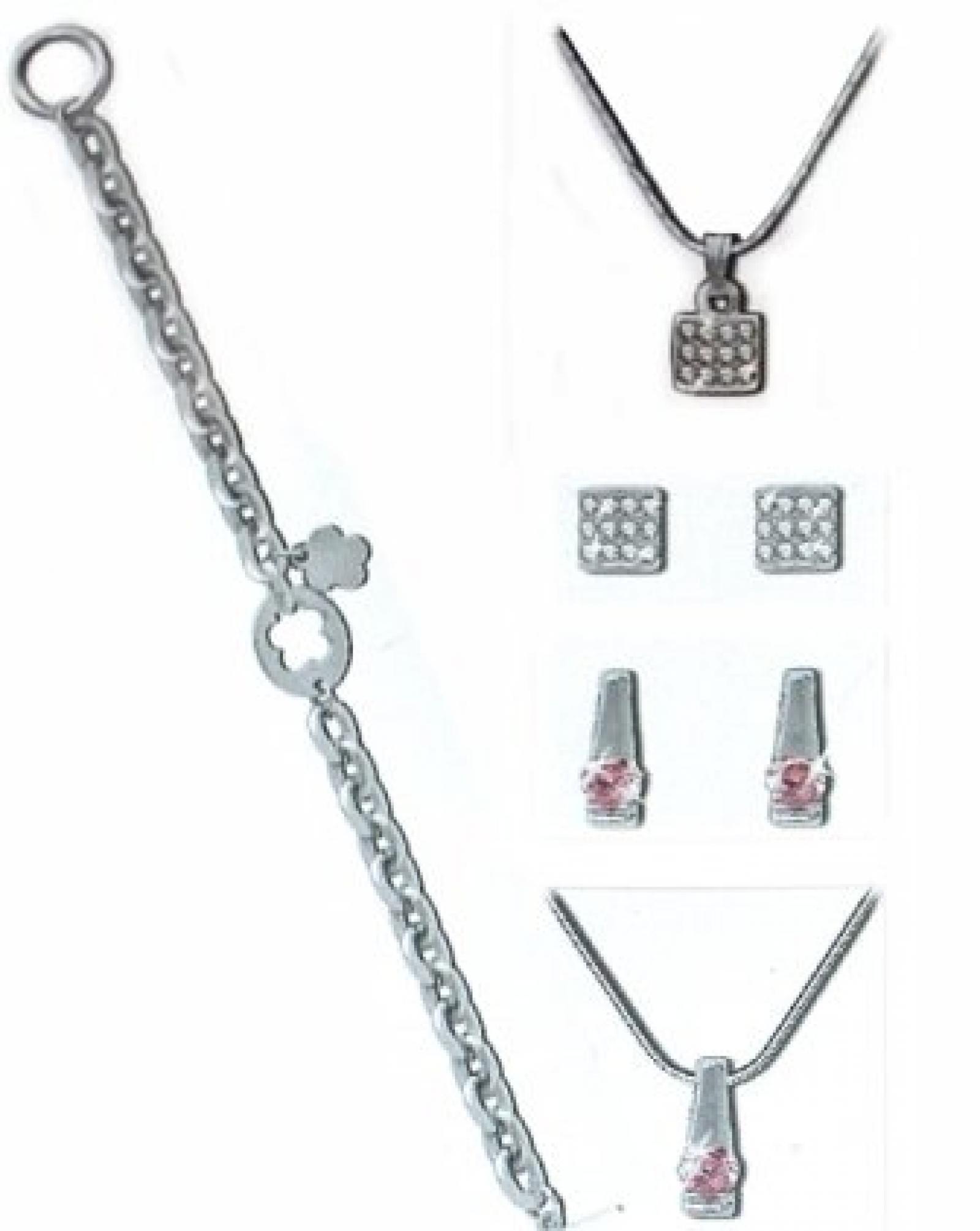 Pierre Cardin Damen Frauen Modeschmuck 2 Pendant Ohrringe & Halskette Schmuckset