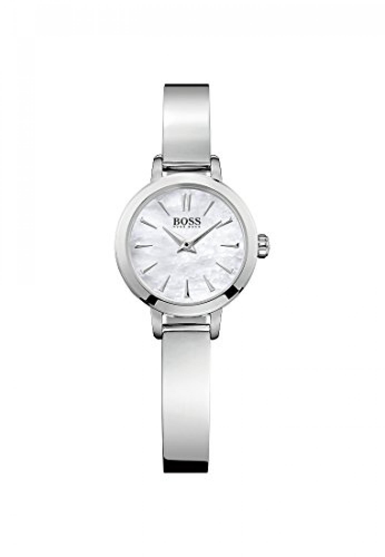BOSS Damen-Armbanduhr Analog Quarz (One Size, perlmutt)