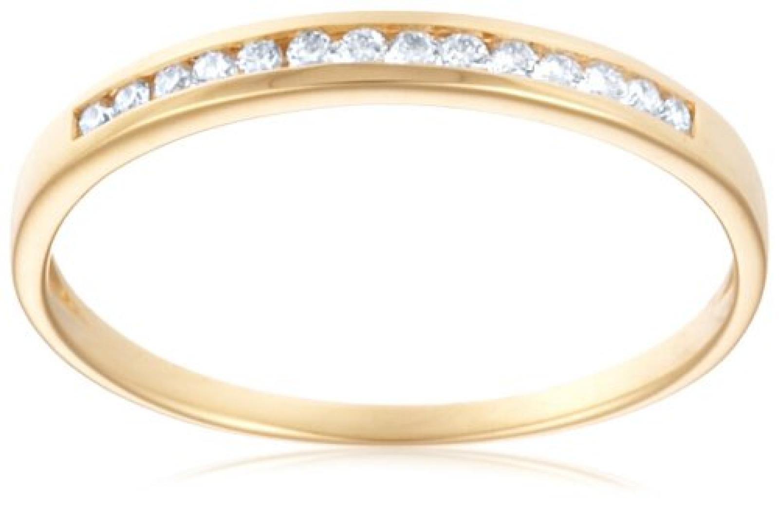 Miore 18 Karat (750) Gelbgold 52 (16.6) Damenring, mit  14 (0,1 cts) Diamanten M0582Y