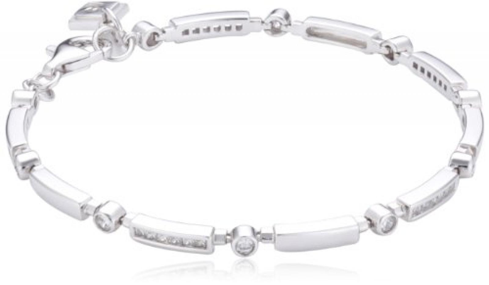 Pierre Cardin Damen Armband 925 Sterling Silber rhodiniert Kristall Zirkonia Cascade 19 cm weiß PCBR90120A190