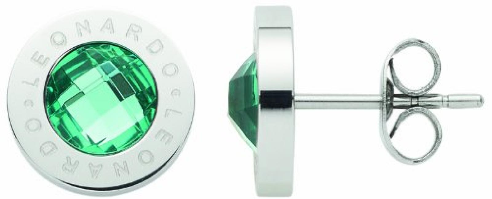 Leonardo Jewels Damen Ohrstecker Edelstahl Glas Matrix 1.7 cm 015307