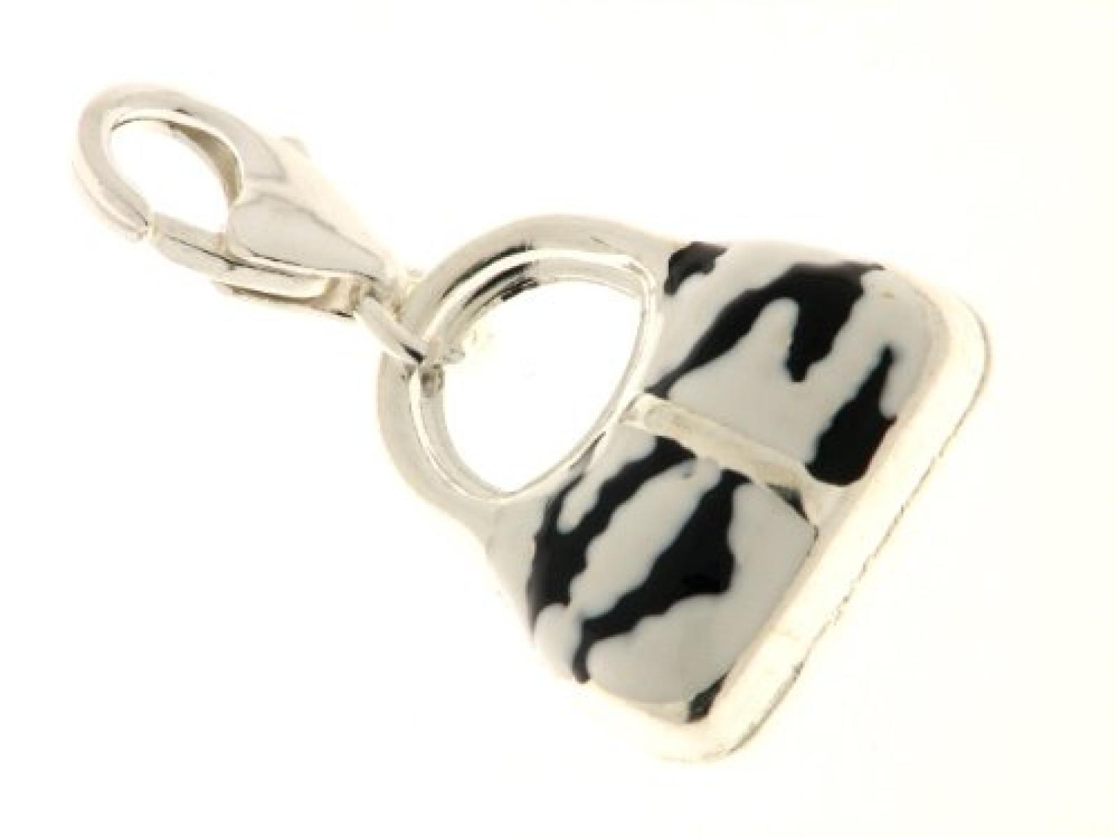 Bob C Damen-Charm Handtasche Sterling-Silber 925 282357