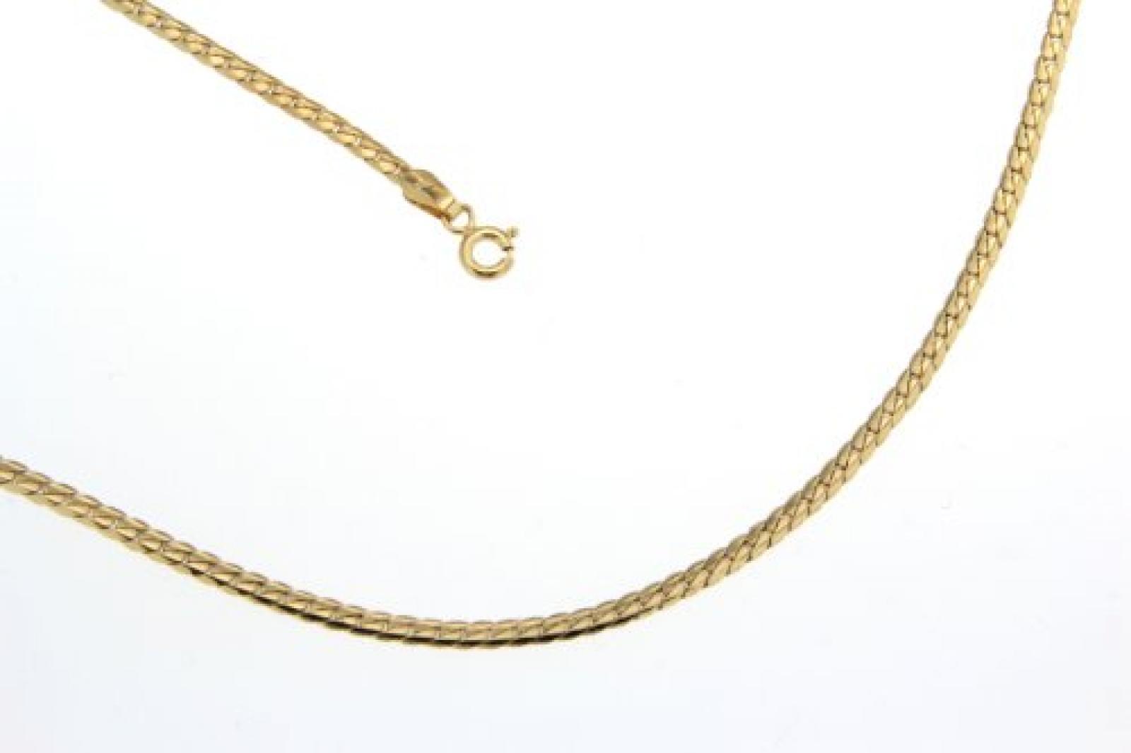 BOB C. Damen-Halskette 9 Karat 375 Gelbgold Panzer eng 272218