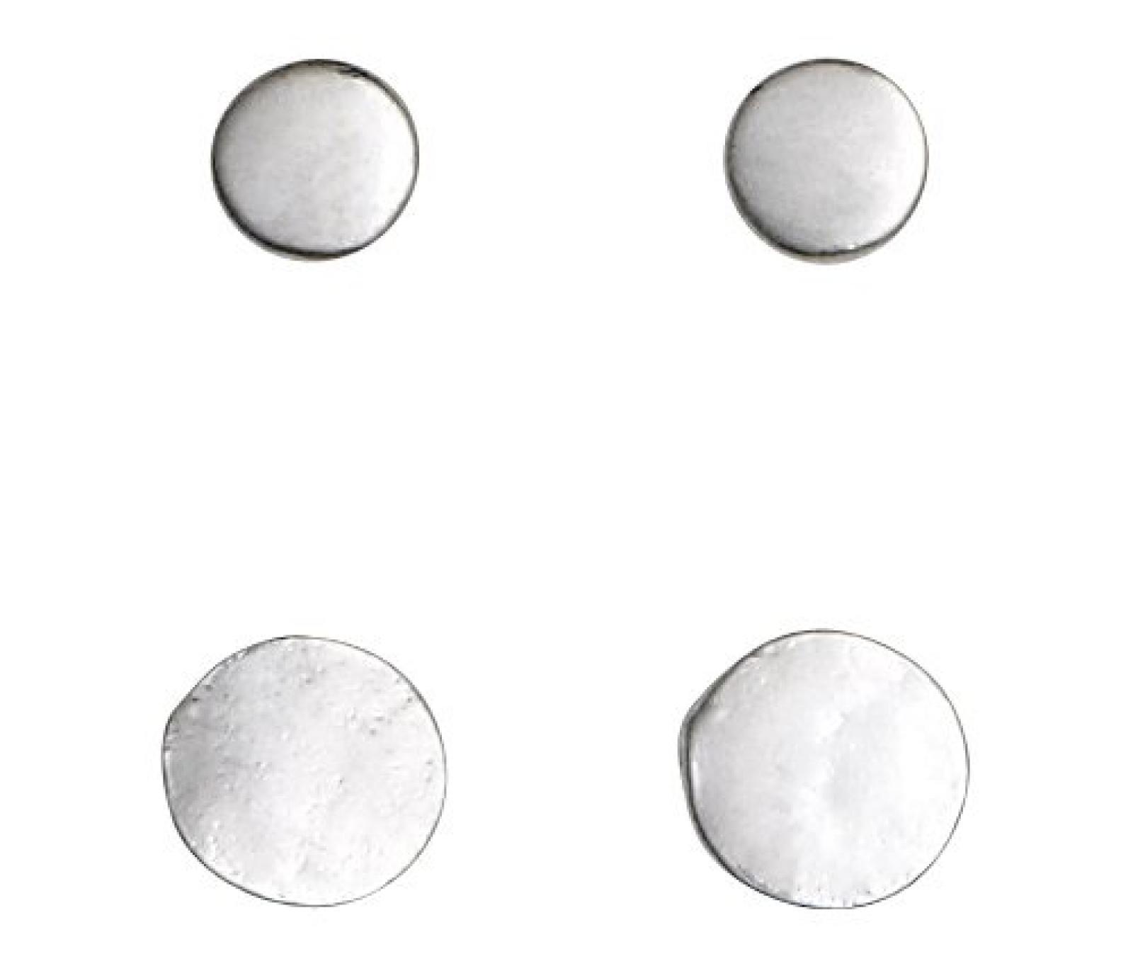 Pilgrim Jewelry Damen-Ohrstecker aus der Serie On one card versilbert 0.4 + 0.5 cm 311316003
