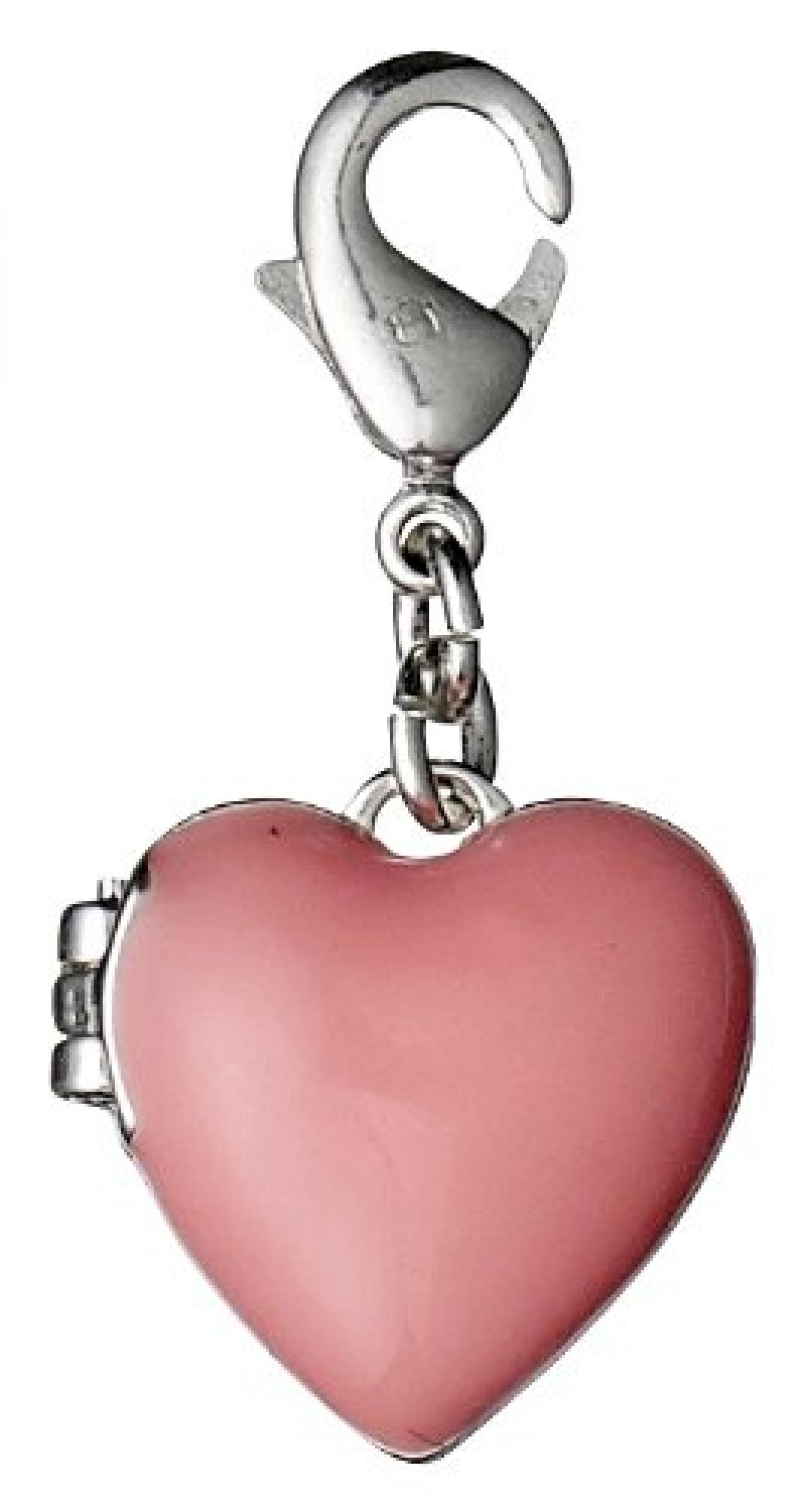 Pilgrim Jewelry Damen-Anhänger Messing aus der Serie versilbert,pink 3.5 cm 401326306