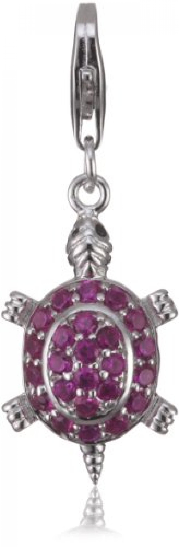 Rafaela Donata Charm Collection Damen-Charm Schildkröte 925 Sterling Silber Zirkonia pink  60600114
