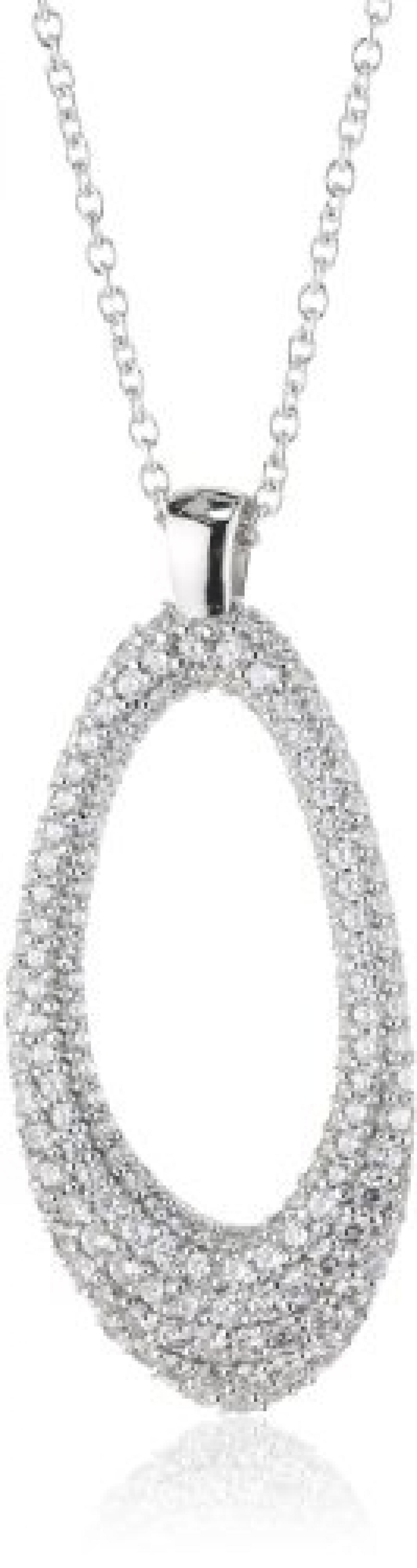 Joop Damen-Halskette mit Anhänger Epoxy schwarz Zirkonia weiss 925 Sterling Silber JPNL90641A450