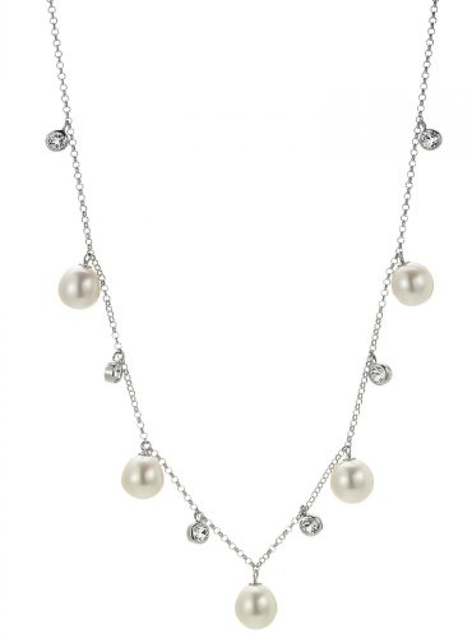 Adriana Damen-Halskette ohne Anhänger Süßwasser Zuchtperlen 925 Sterling Silber A4