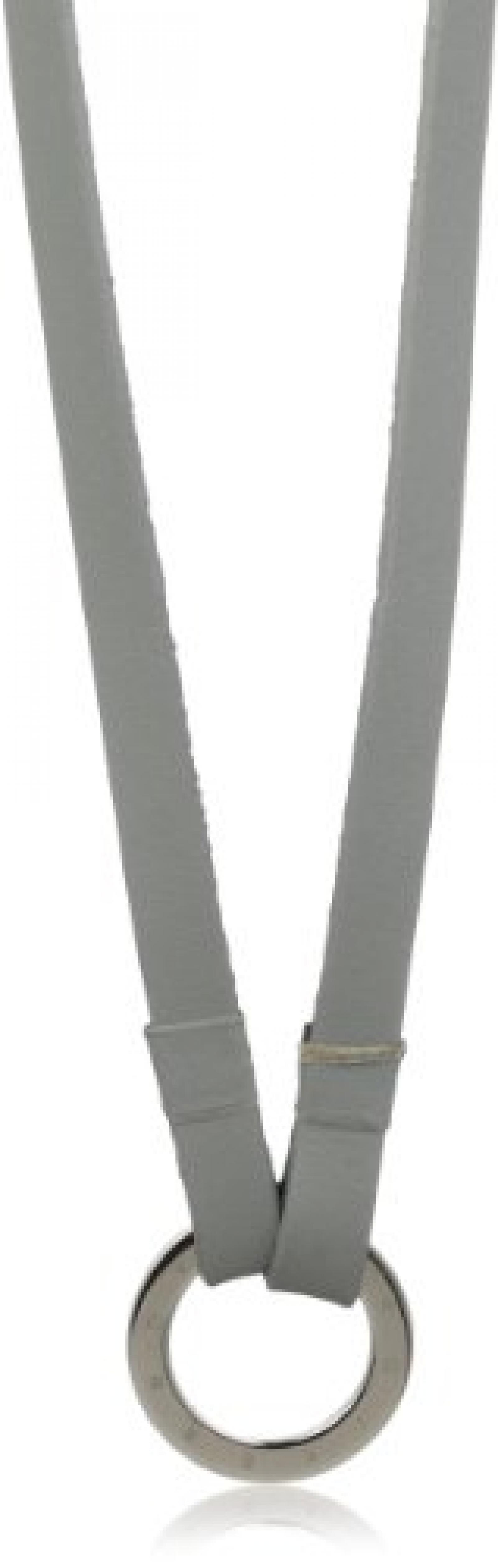 Dyrberg/Kern Damen-Lederhalskette GIMME SS GREY 80cm 332354