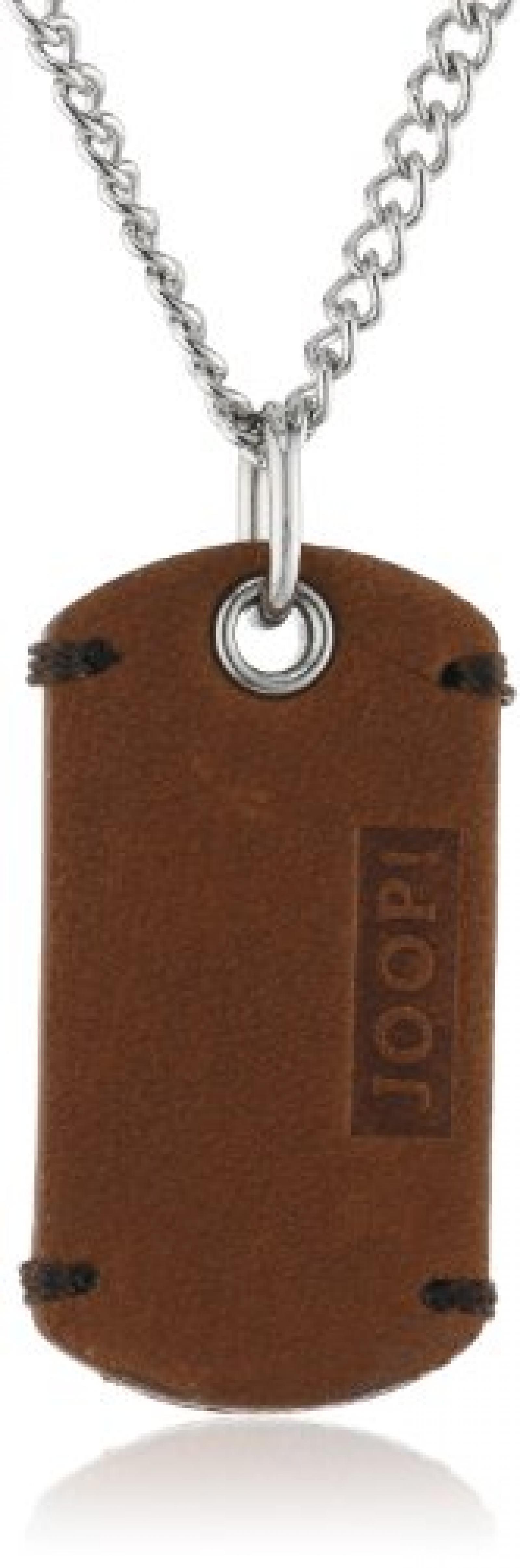 Joop! Herren-Halskette Bruce Leder braun Edelstahl ca. 50 cm (45 + 5 cm) JPNL10520A500