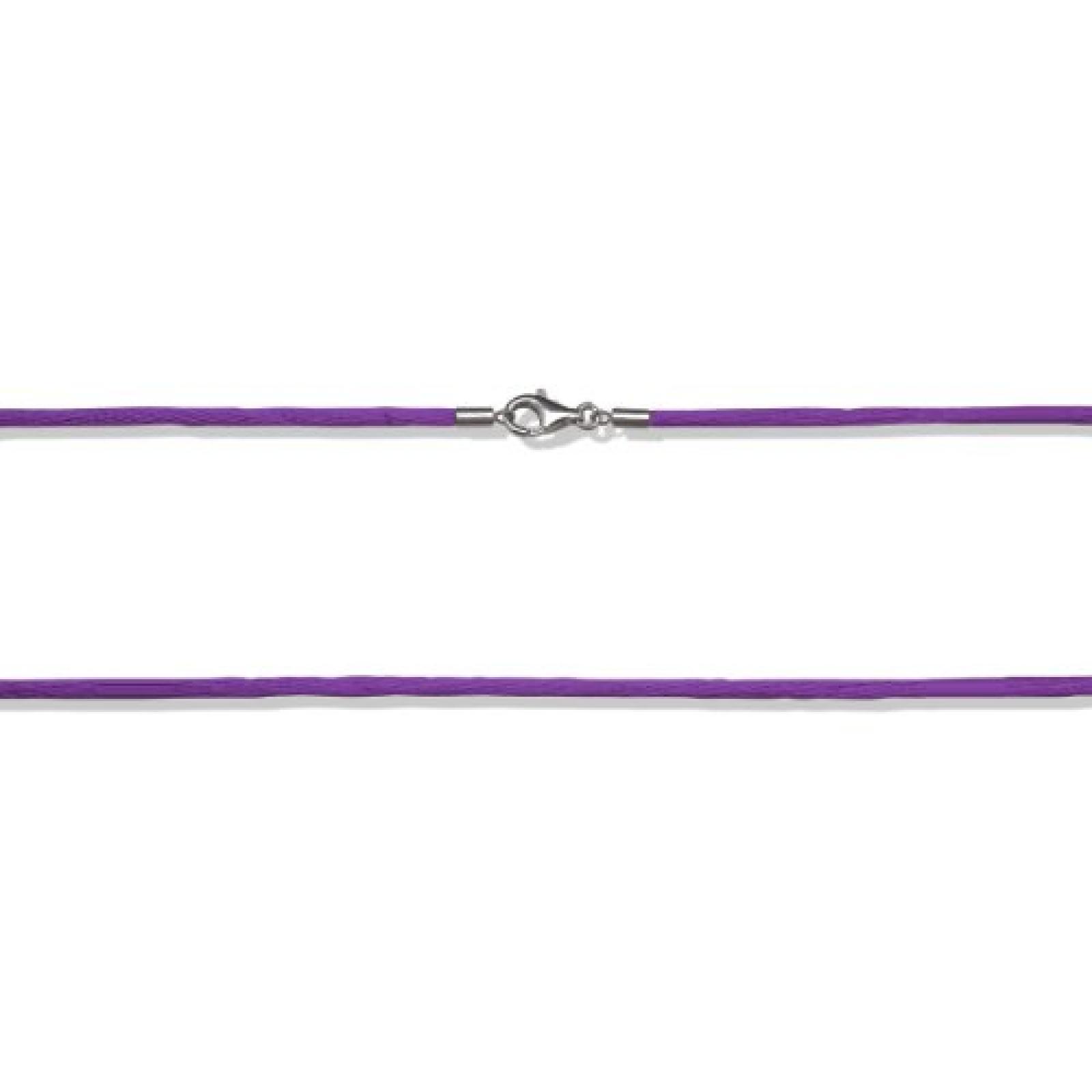 Rafaela Donata  Damen-Halskette Basic Collection Satin lila 925 Sterling Silber 80 cm  60990099