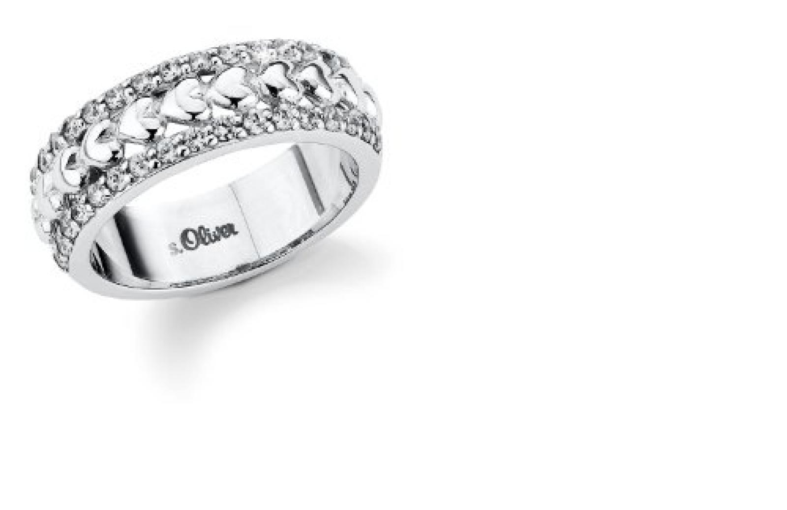 s.Oliver Damen-Ring Silber 925  Gr.56 399869