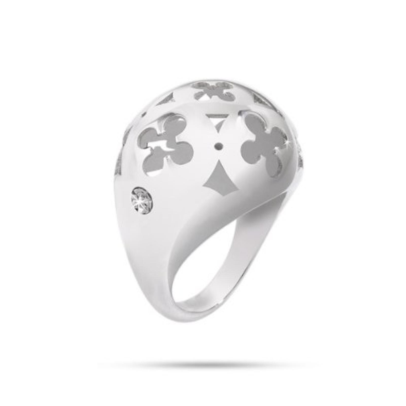 Morellato Damen-Ring Edelstahl Kristall Ducale silber SAAZ05018