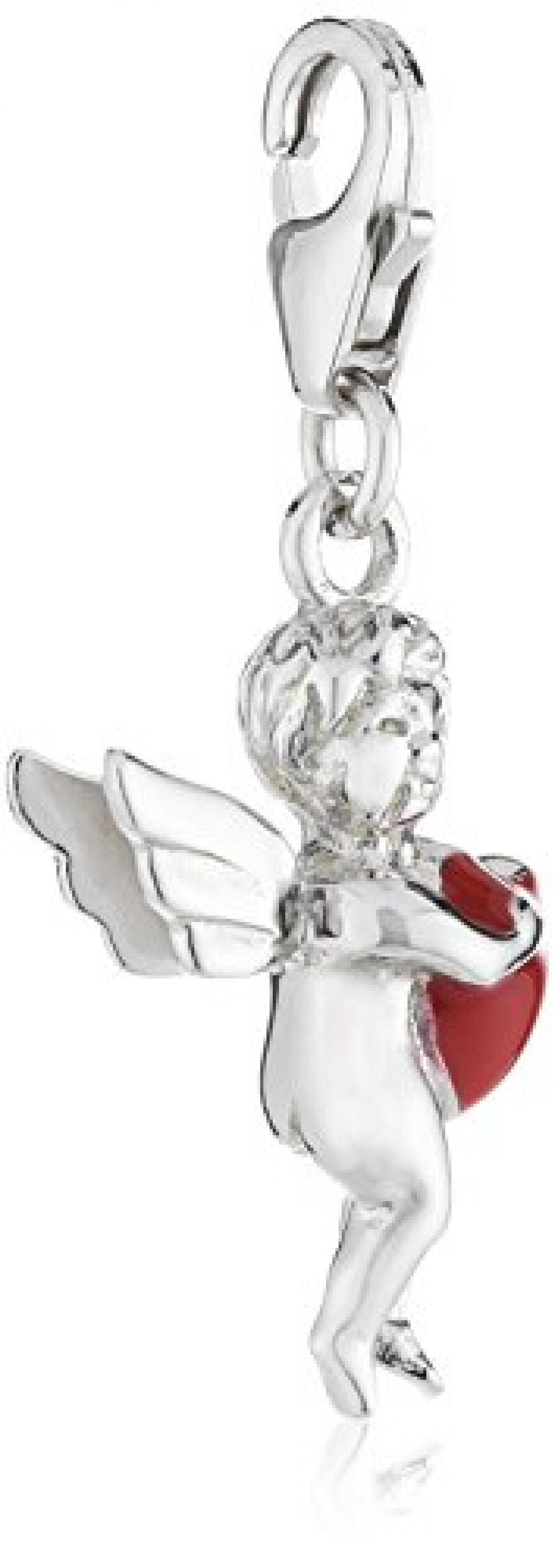 Zeeme Damen-Anhänger 925/- Sterling Silber Mit Rotem Lack Engel 379240047