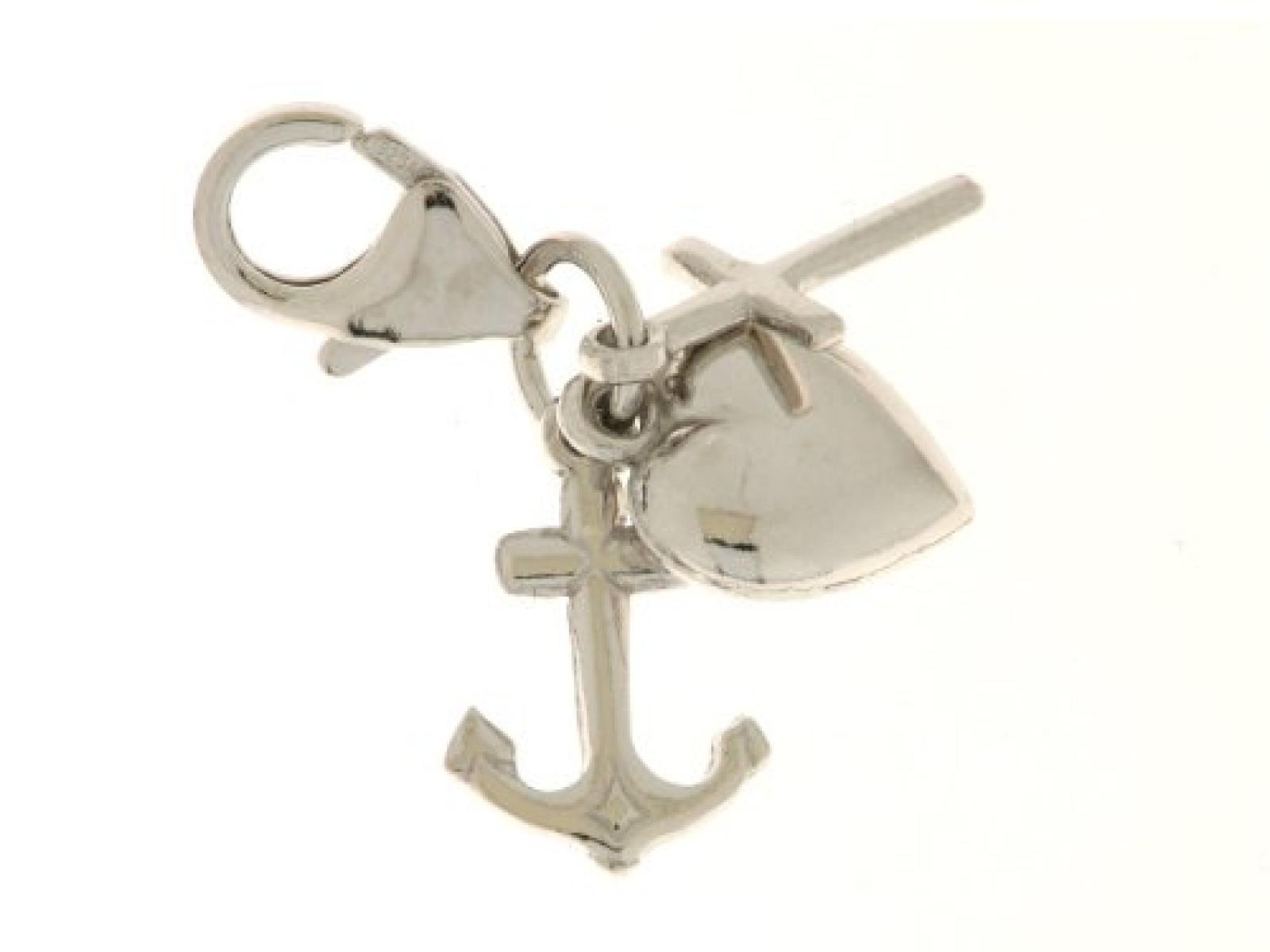 Bob C Damen-Charm 925 Sterling Silber rhodiniert 278324