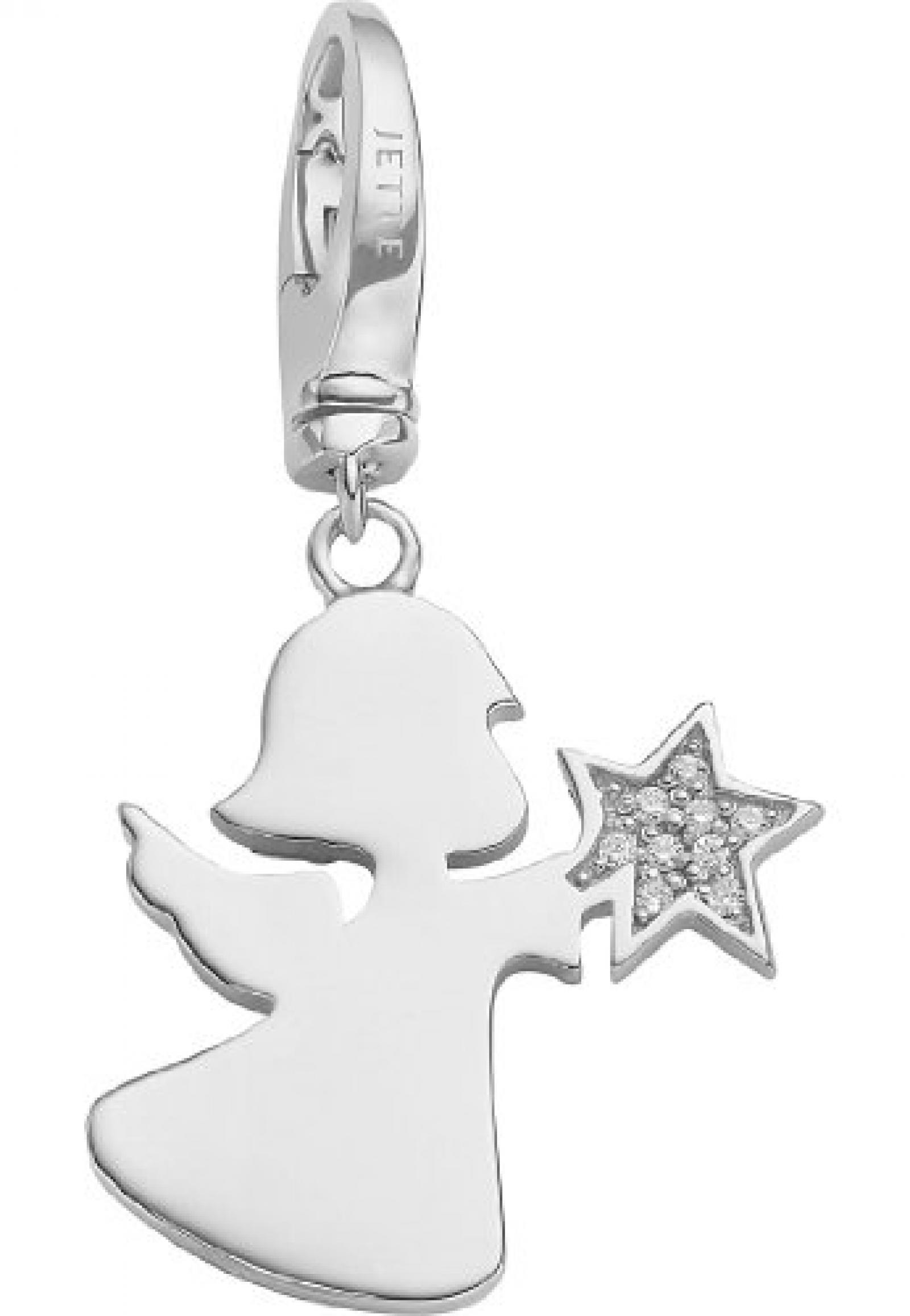 JETTE Charms Damen-Charm CHARM 925er Silber 9 Zirkonia One Size, silber