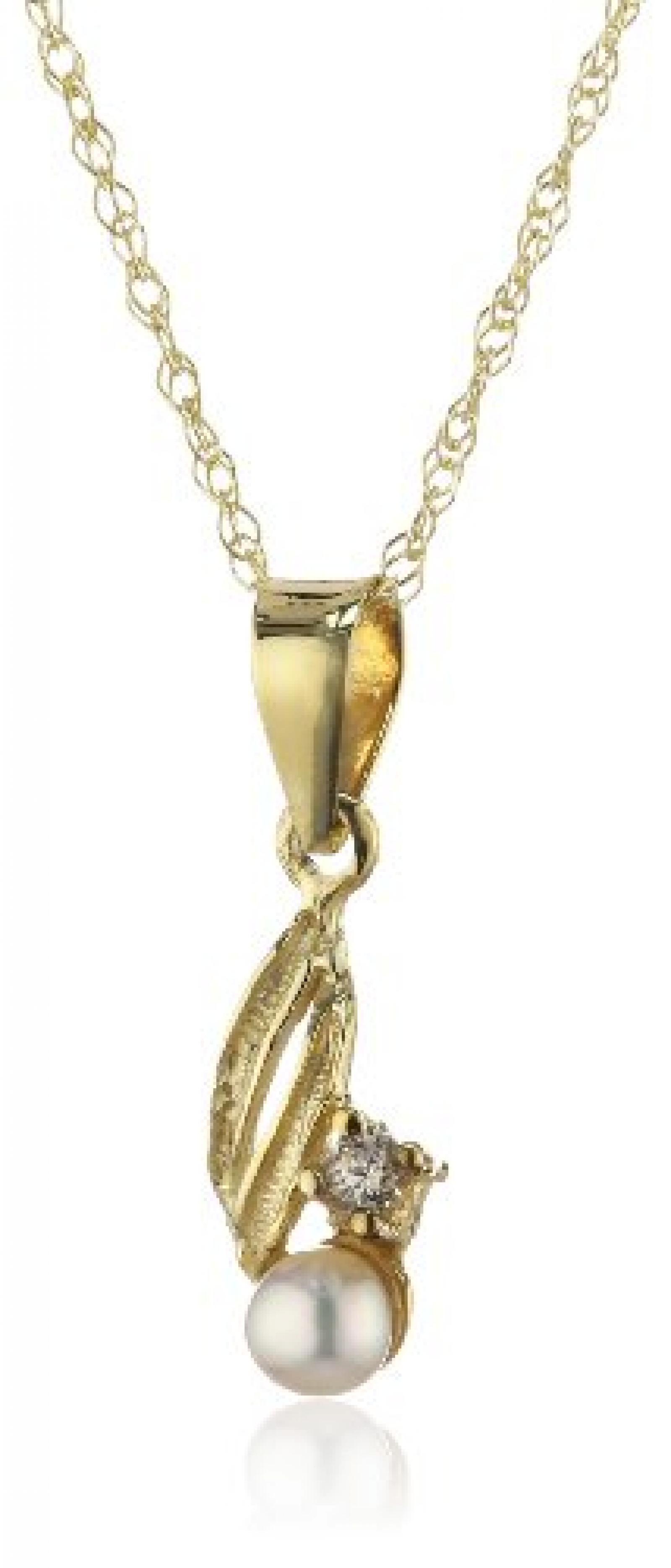 Amor Jewelry Damen-Halskette 8 Karat 333 Gelbgold 385138