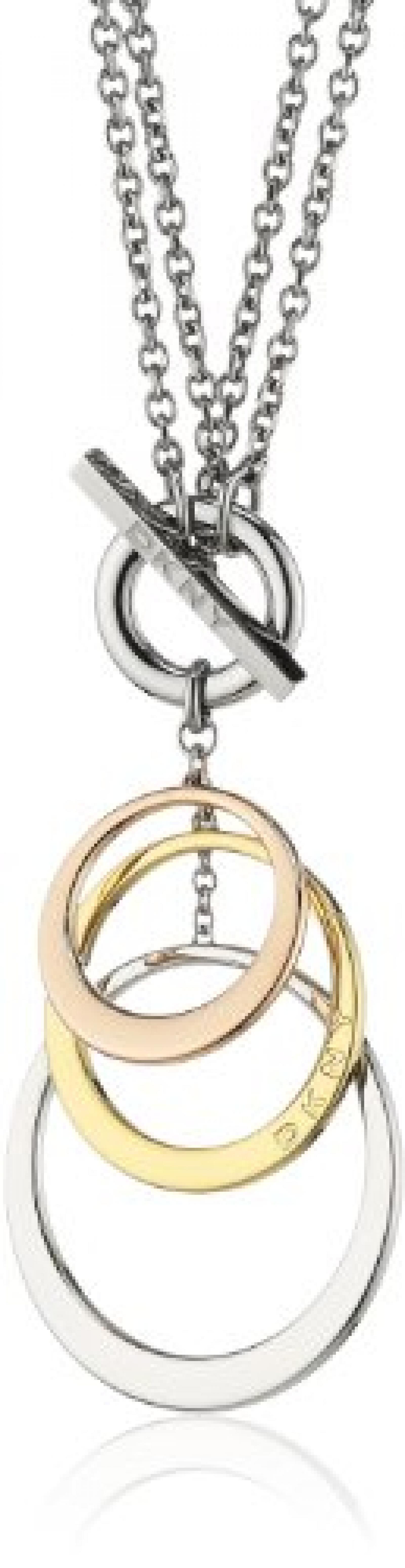 DKNY Damen-Halskette Edelstahl Ohne 3-farbig, silber,gold, roségold NJ1825040