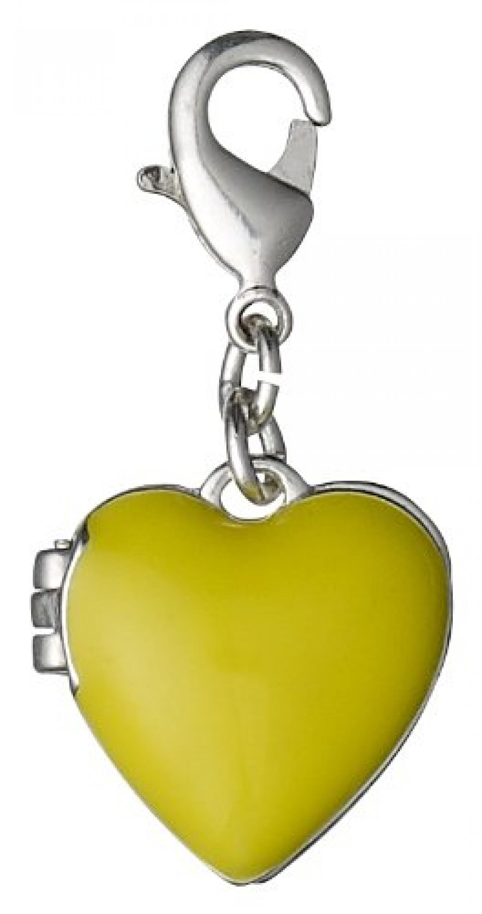 Pilgrim Jewelry Damen-Anhänger Messing aus der Serie versilbert,lime 3.5 cm 401326405