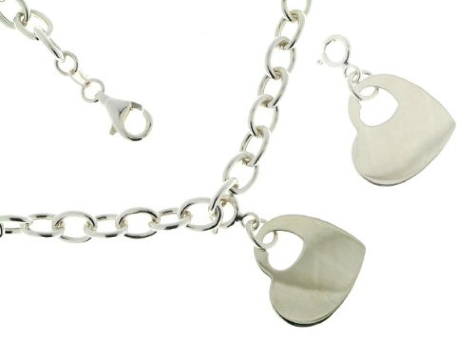 BOB C. Damen-Charmsarmband mit Einhänger Herz 925 Sterling Silber 216521
