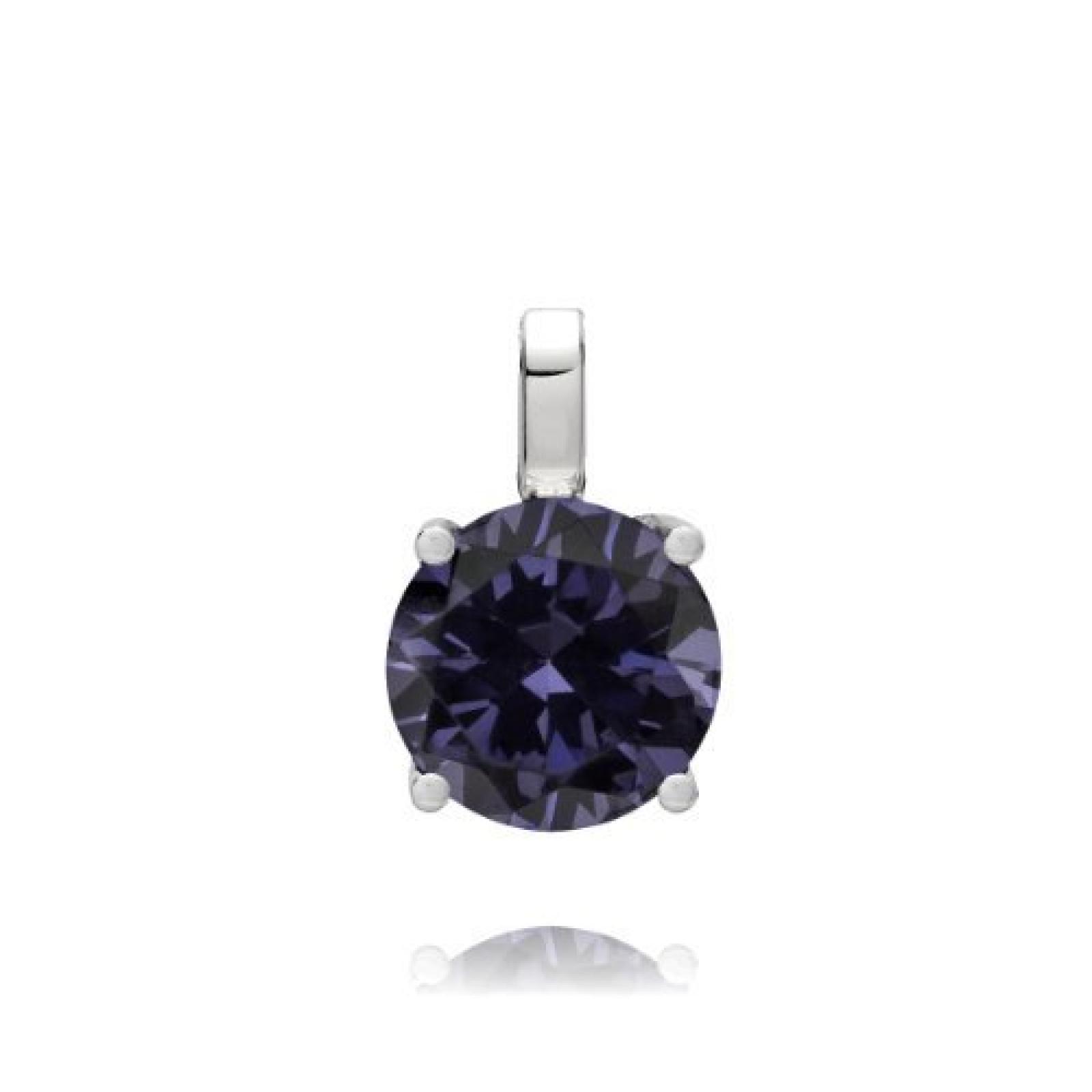 Rafaela Donata Damen-Anhänger Classic Collection 925 Sterling Silber Zirkonia tansanitfarben 60837055