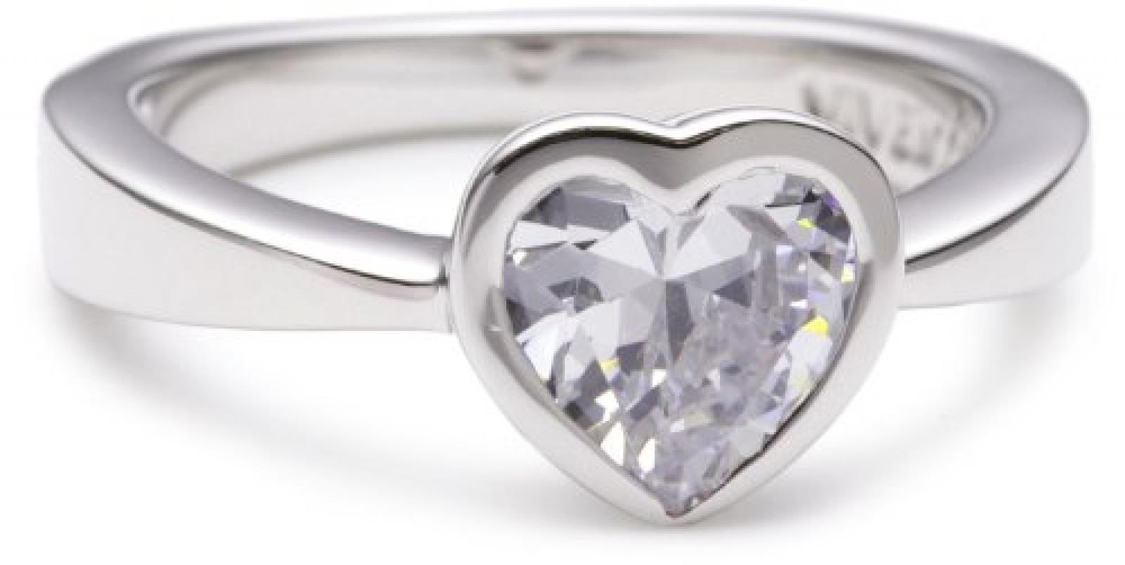 Viventy Damen-Ring 925 Sterling Silber 1 Zirkonia Weiß 762601