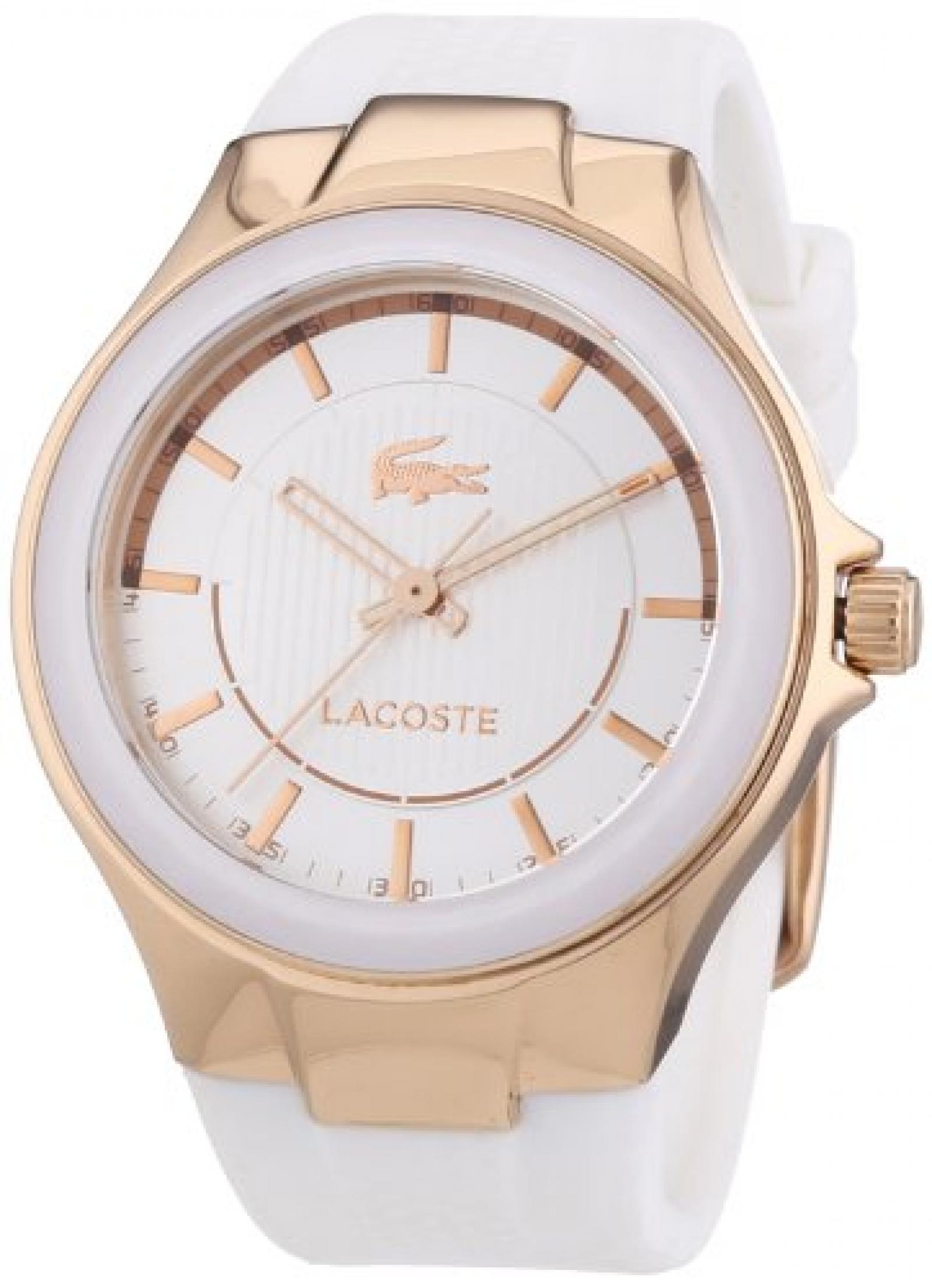 Lacoste Damen-Armbanduhr Analog Quarz Silikon 2000774
