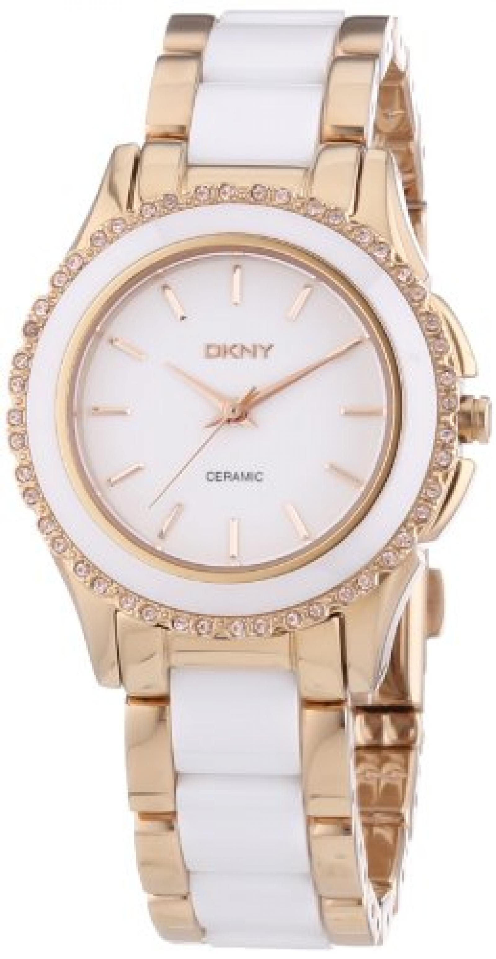 DKNY Damen-Armbanduhr XS Analog Quarz verschiedene Materialien NY8821