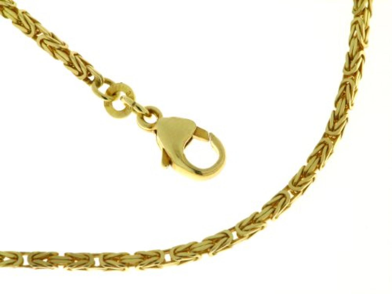 BOB C. Königskettenarmband  quadratisch 1,8 mm 333/ooo Gelbgold ca. 21 cm 122197