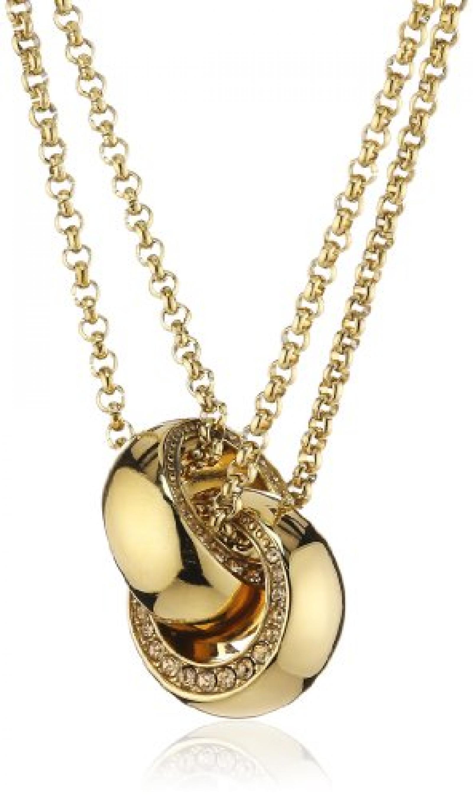 DKNY Damen-Halskette Edelstahl Zirkonia goldbeschichtet NJ1797040