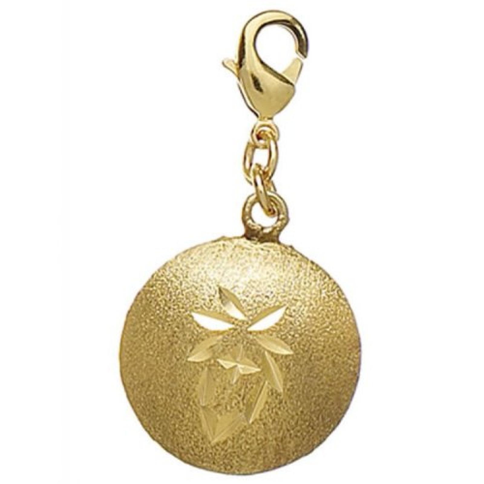 Pilgrim Charm Anhänger Round gold 444040