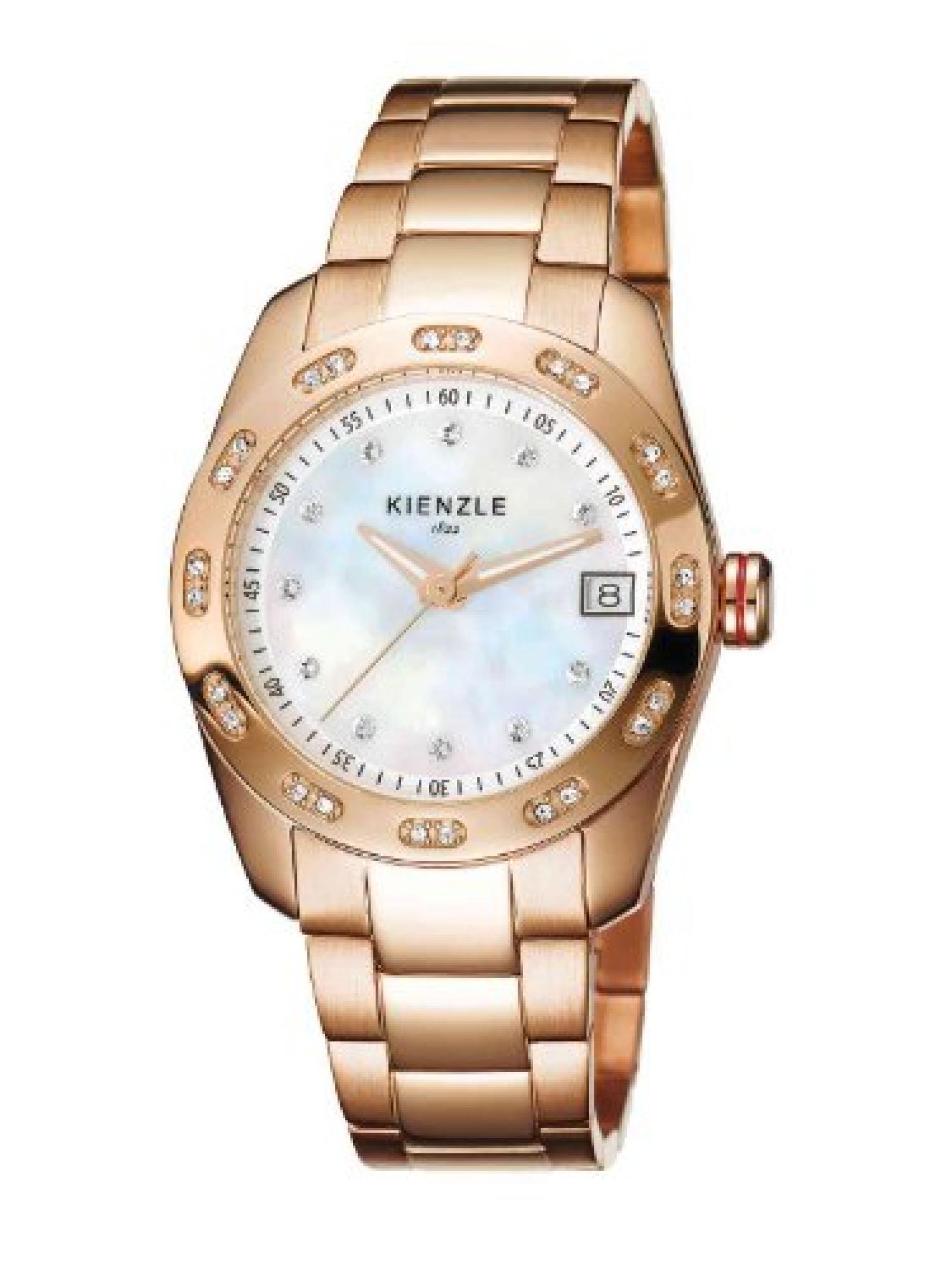Kienzle Damen-Armbanduhr XS Analog Edelstahl beschichtet K3022034042