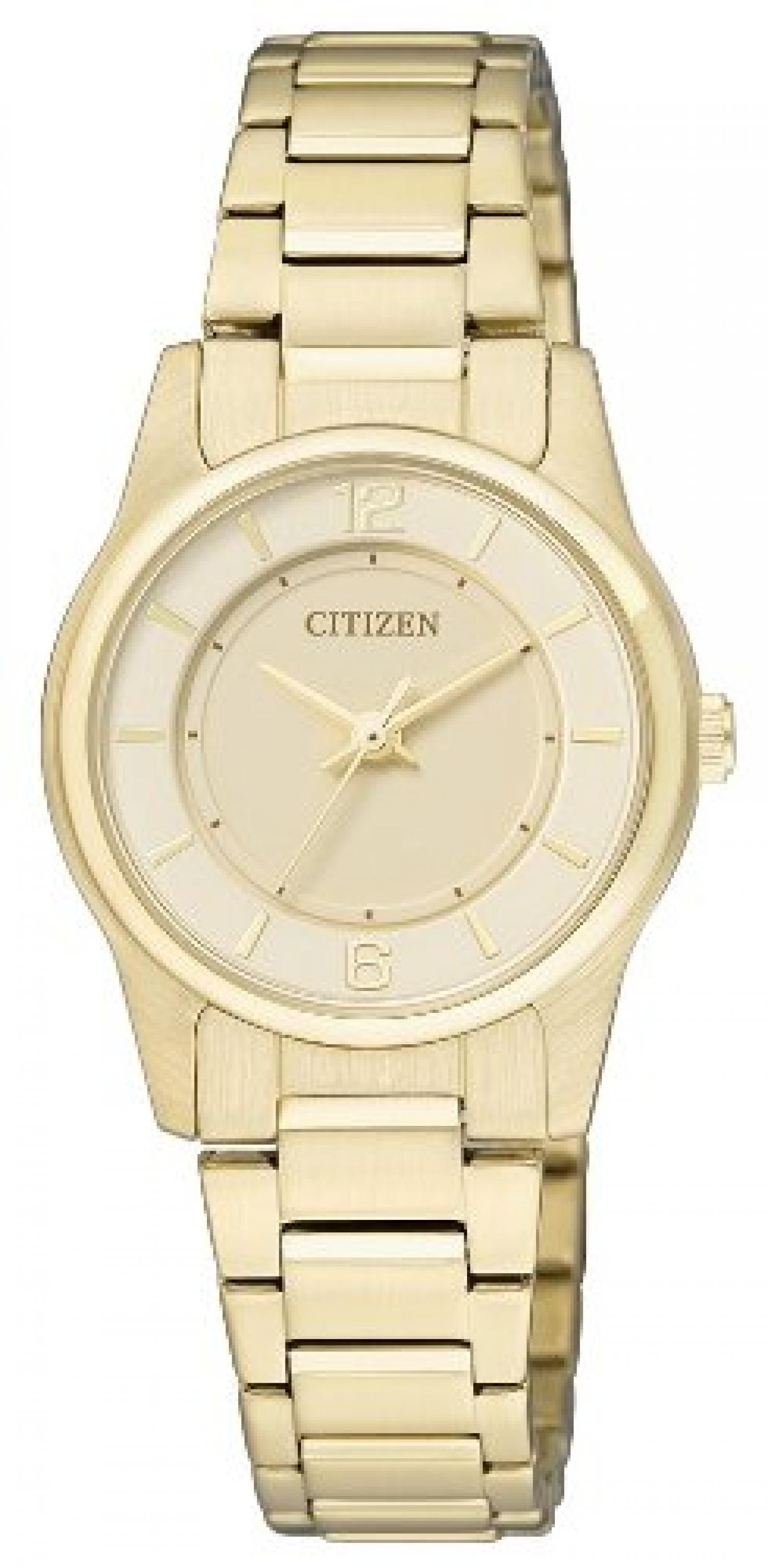 Citizen Damen-Armbanduhr Analog Quarz Edelstahl beschichtet ER0182-59A