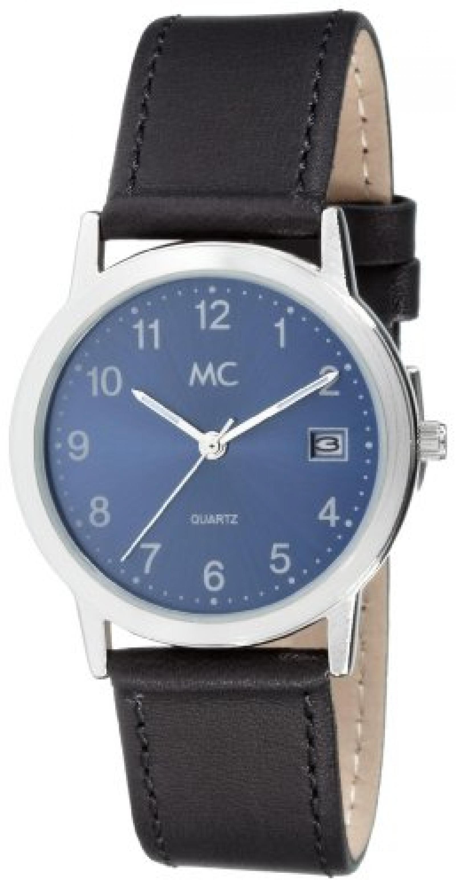 MC Timetrend Herren-Armbanduhr Analog Quarz Leder 24207
