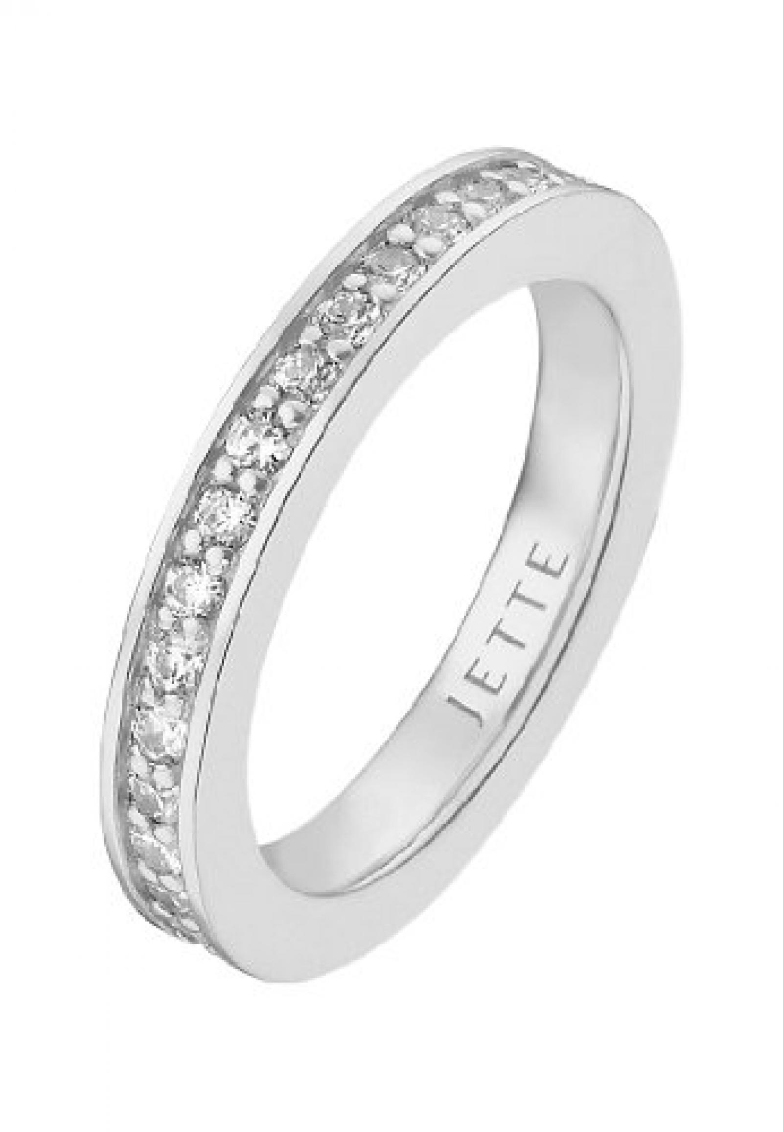 JETTE Silver Damen-Ring 925er Silber rhodiniert 34 Zirkonia (silber)
