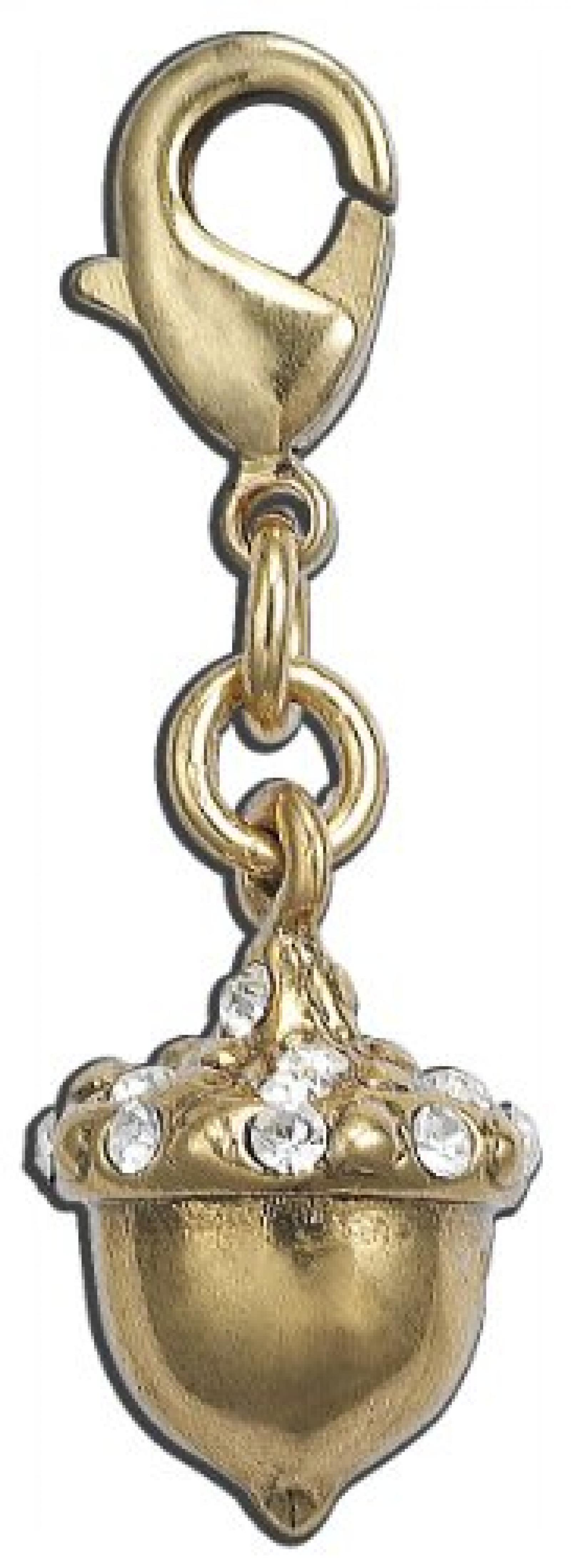 Pilgrim Damen-Anhänger vergoldet Kristall 560-450