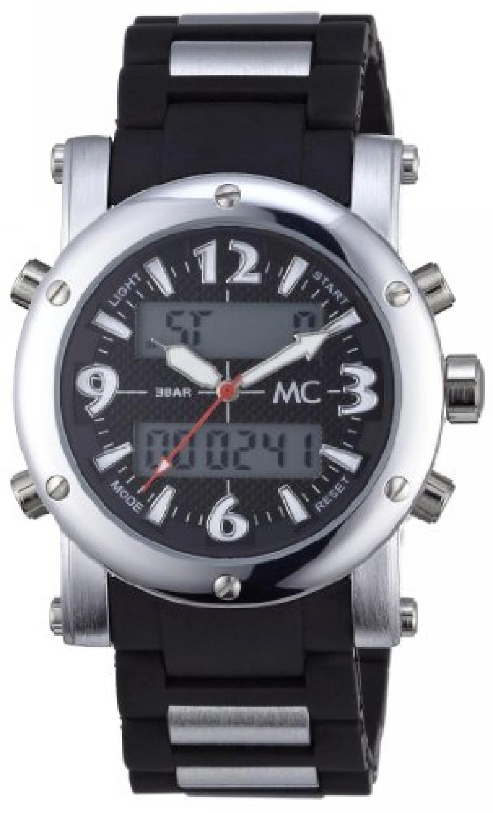 MC Timetrend Herren-Armbanduhr Analog - Digital Quarz Kunststoffband 26341