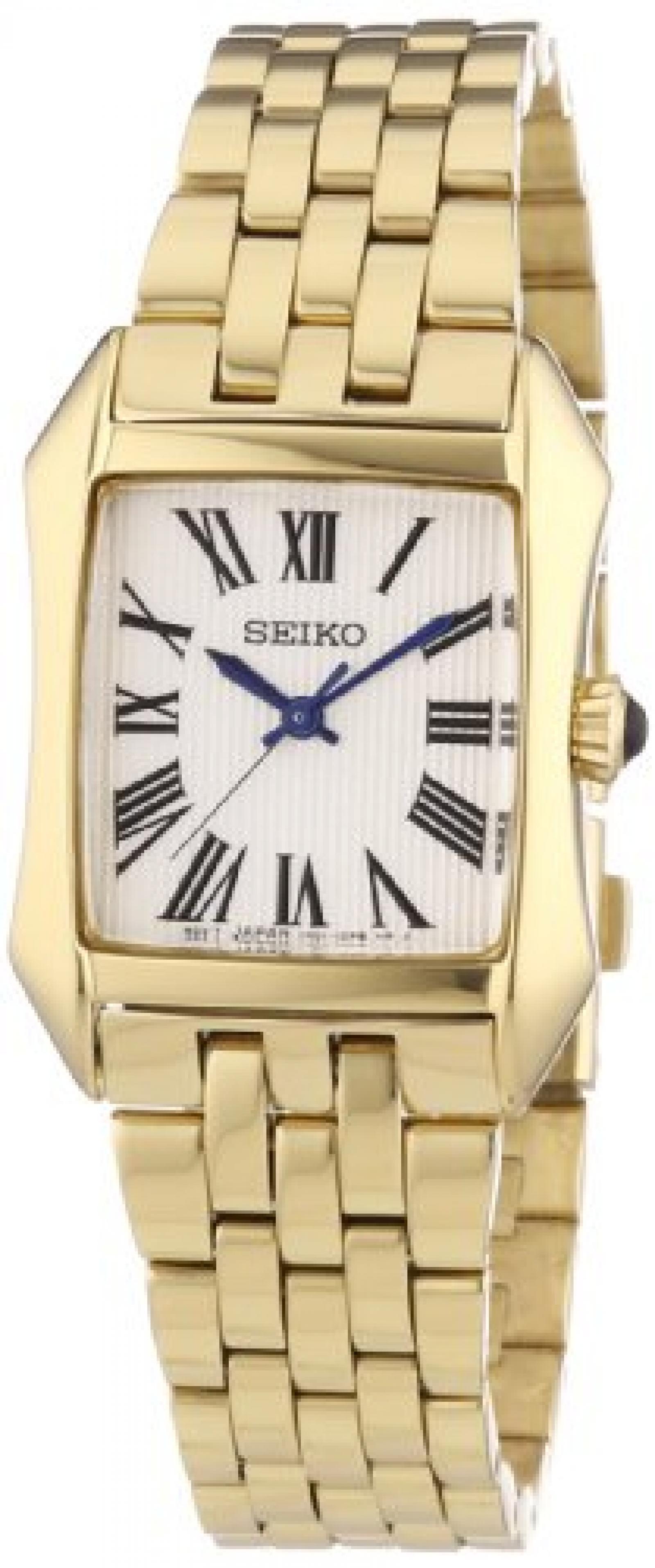Seiko Damen-Armbanduhr Analog Quarz Edelstahl beschichtet SXGP22P1