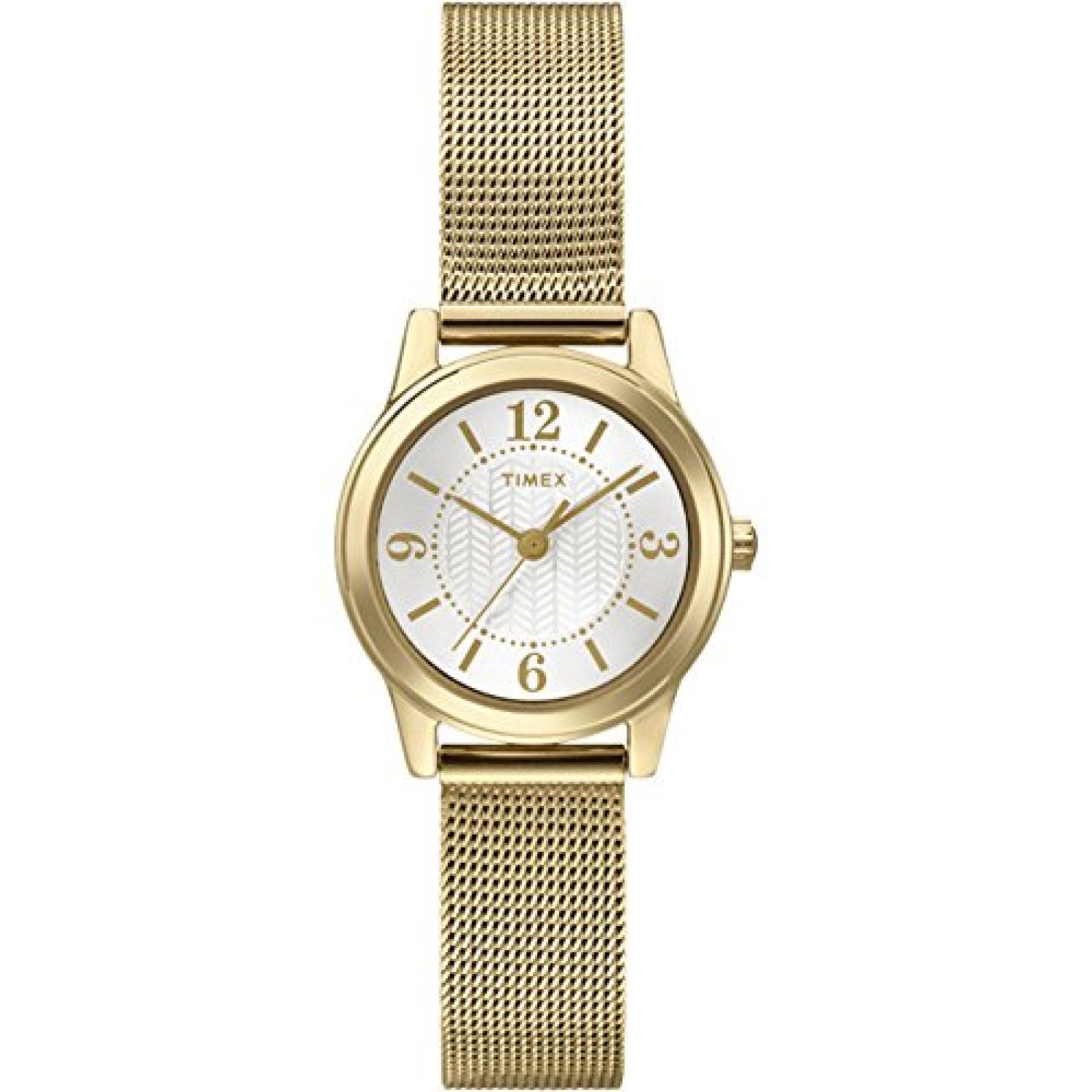 Timex Damen-Armbanduhr XS Womens Dress Bracelet Analog Quarz Edelstahl T2P458