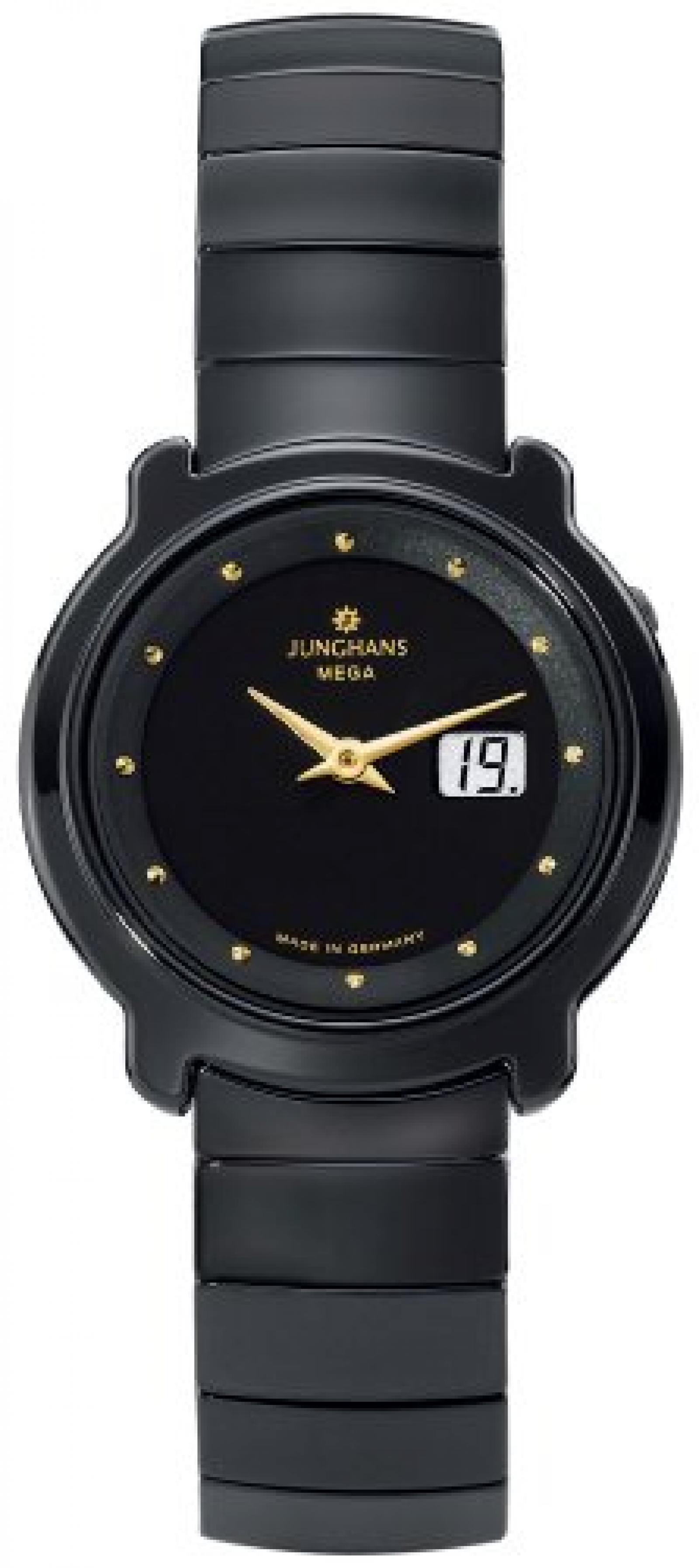 Junghans Damen-Armbanduhr XS STRATOS LADY FUNK CERAMIC Analog Keramik 013/1610.44