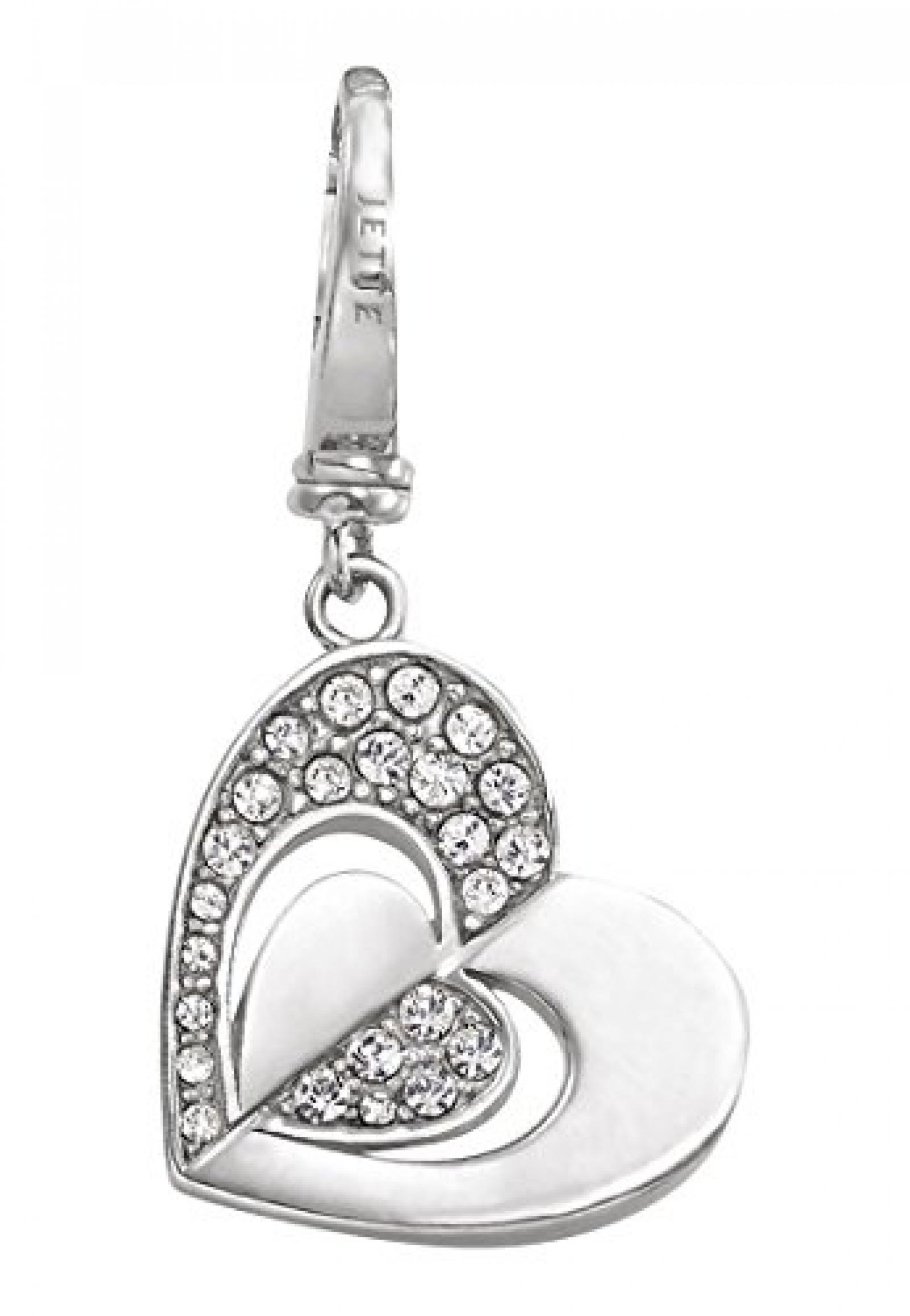 JETTE Charms Damen-Charm Mini-charm Valentin 2014 925er Silber rhodiniert 24 Kristalle One Size, silber