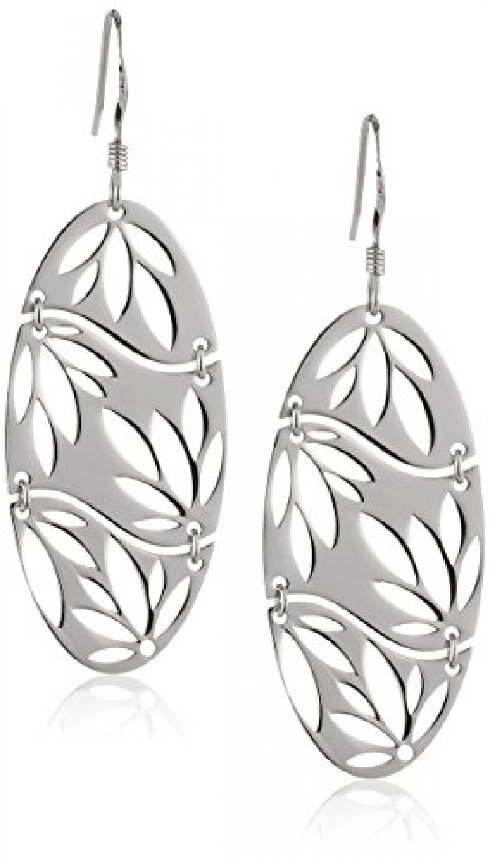 ZEEme Damen-Ohrhänger Motiv Blatt beweglich Silver 301230049R