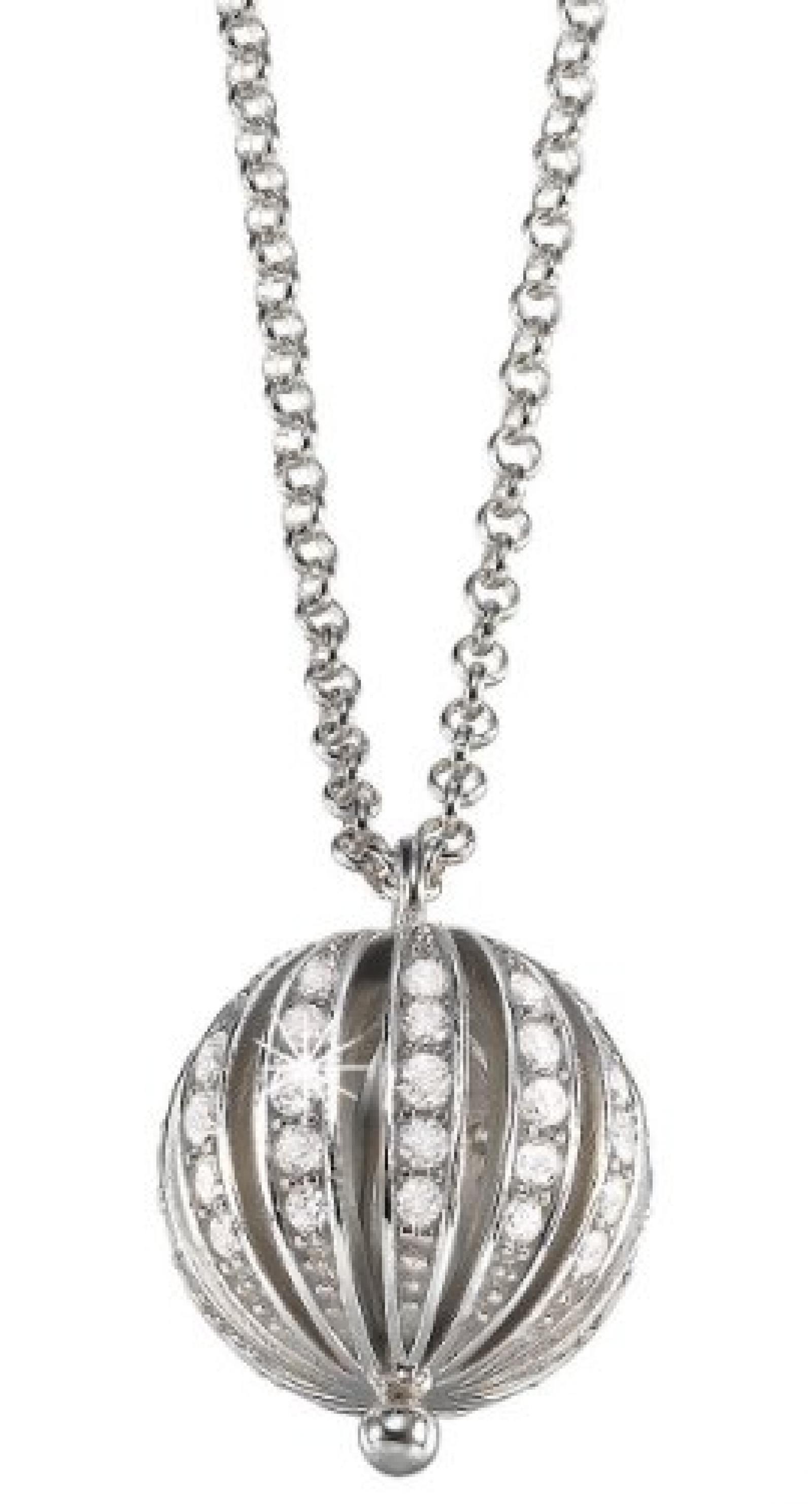 Pierre Cardin Damen Halskette 925 Sterling Silber rhodiniert Kristall Zirkonia Pure 75 cm weiß PCNL90384A750
