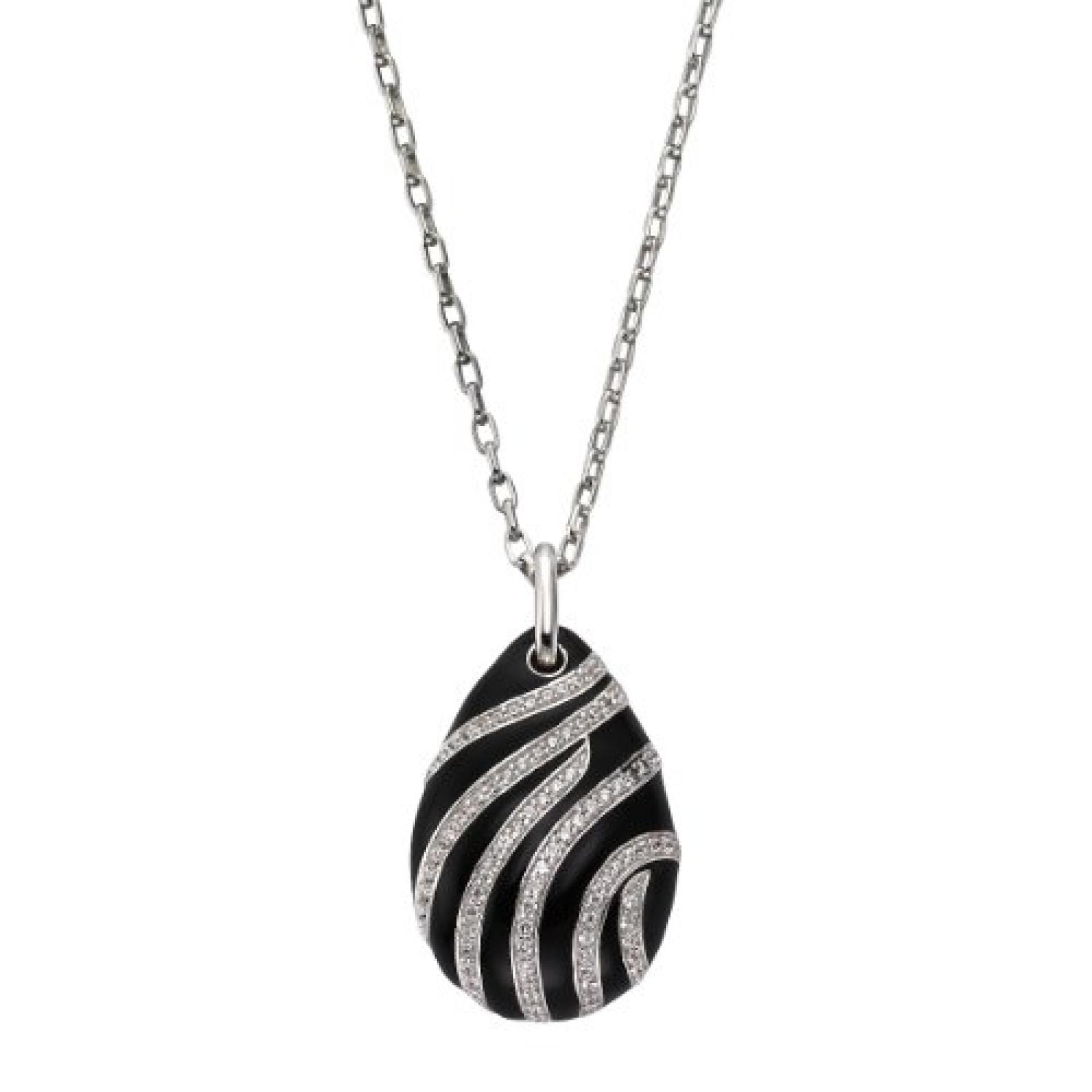 Celesta Damen Halskette 925 Sterling Silber rhodiniert Acryl Zirkonia Celesta Silver 45.0 cm weiß 500244582-45