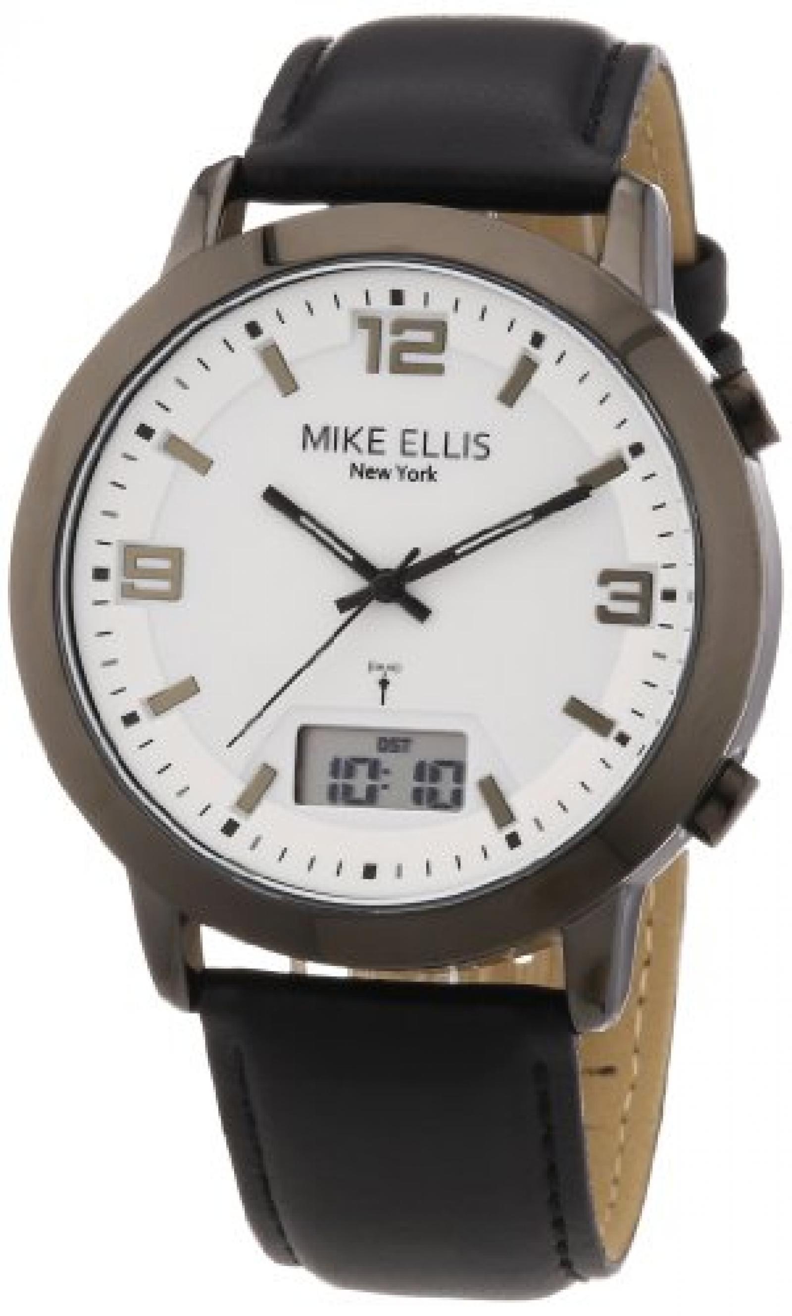 Mike Ellis New York Herren-Armbanduhr Analog - Digital Quarz Leder M2941ANU/1